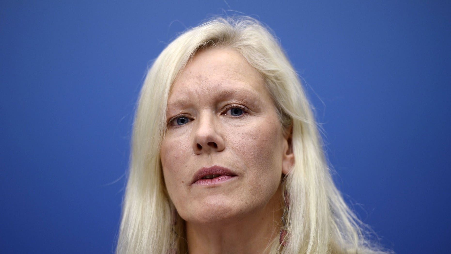 Anna Lindstedt, Sweden's ambassador to China who is under internal investigation, the embassy said Thursday Feb. 14, 2019, after she set up meetings between the daughter of a detained Swedish publisher and two businessmen that appeared to have gone awry.