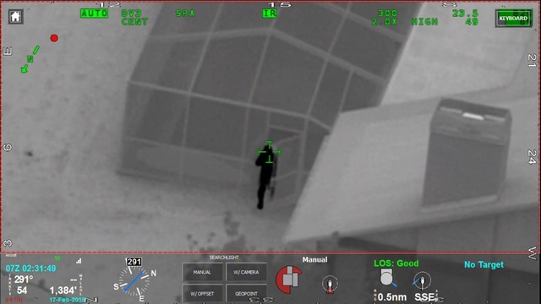 Authorities in Clearwater, Fla., said someone flashed a laser at a sheriff's helicopter on Sunday morning.