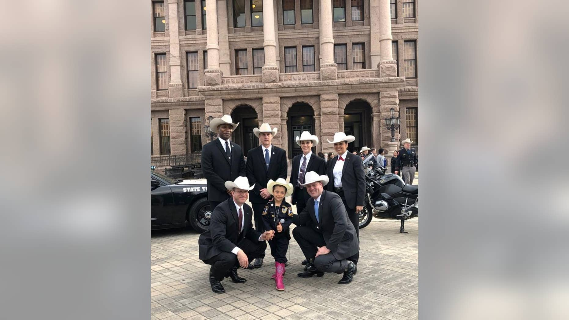 Abigail Arias was made honoraryTexas Ranger in a special ceremony on Monday.