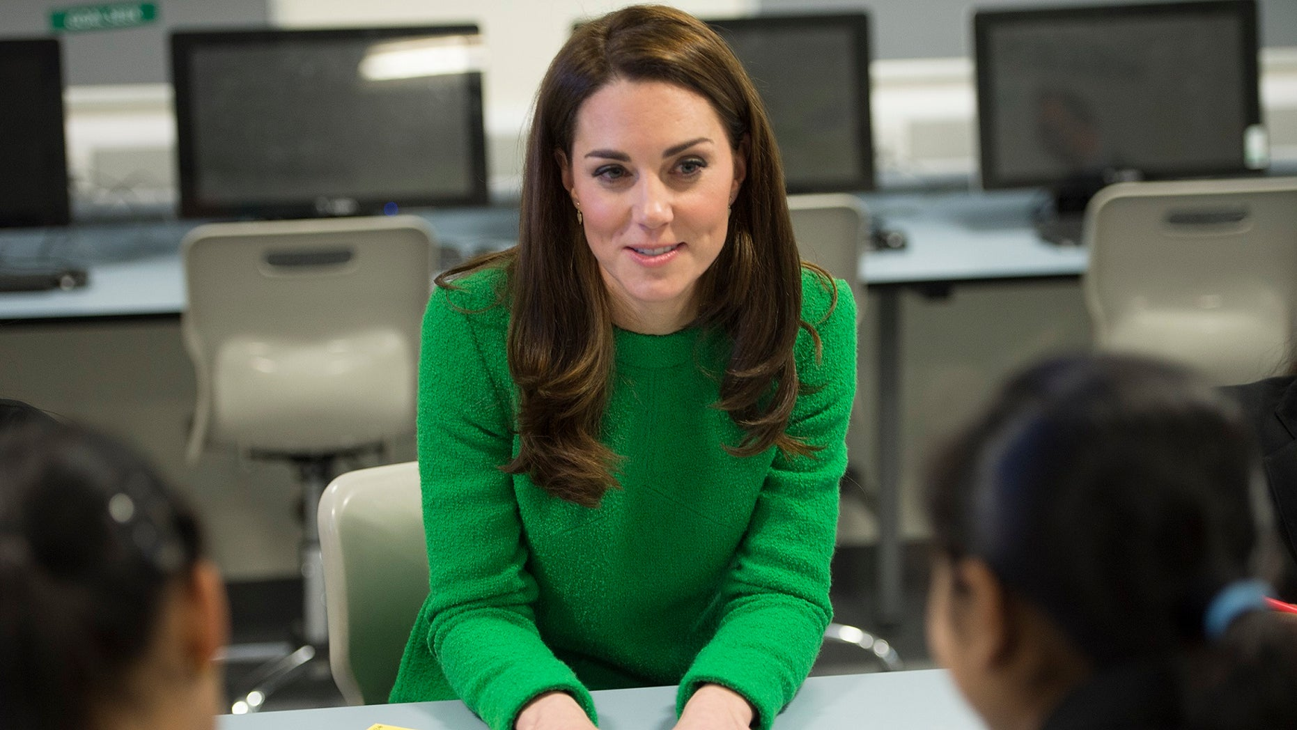 Britain's Kate, Duchess of Cambridge visits Alperton Community School in London, Tuesday Feb. 5, 2019.