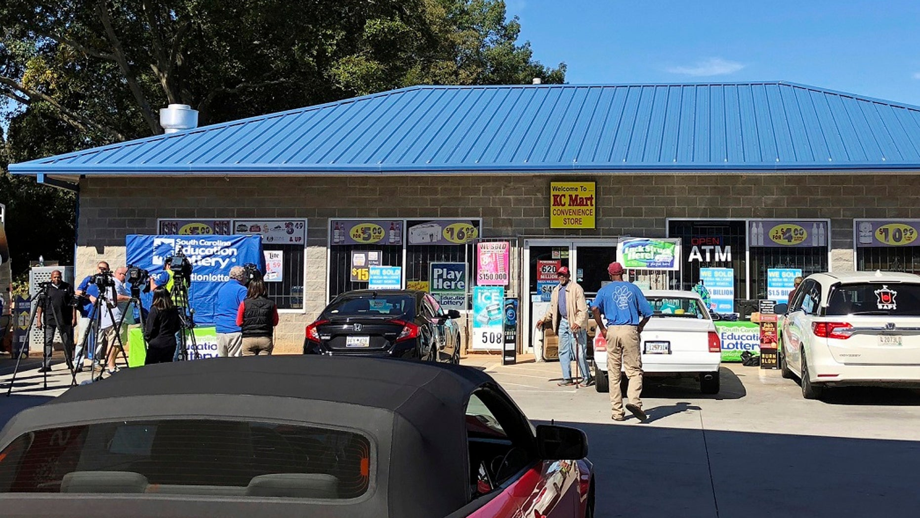 The KC Mart in Simpsonville, S.C., which sold the record-breaking Mega Millions ticket.