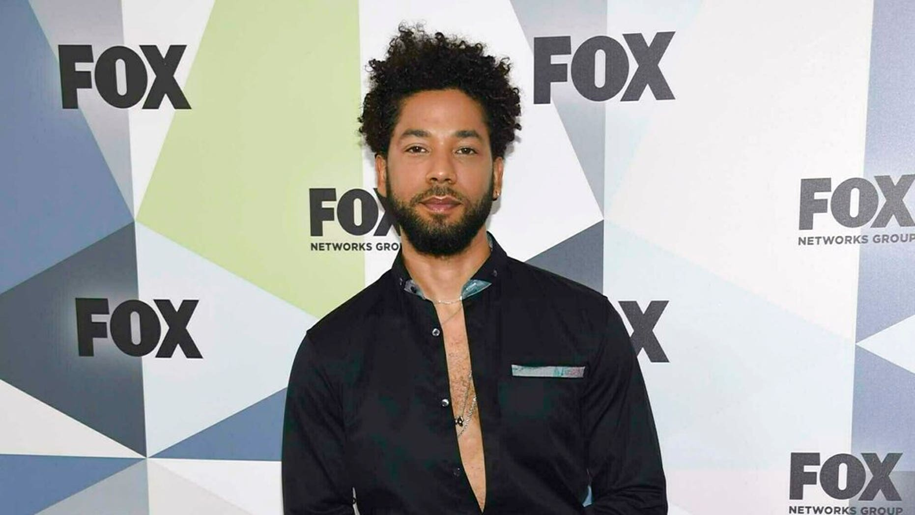 "FILE: ""Empire"" actor Jussie Smollett attends the Fox Networks Group 2018 programming presentation afterparty in New York. (Associated Press)"