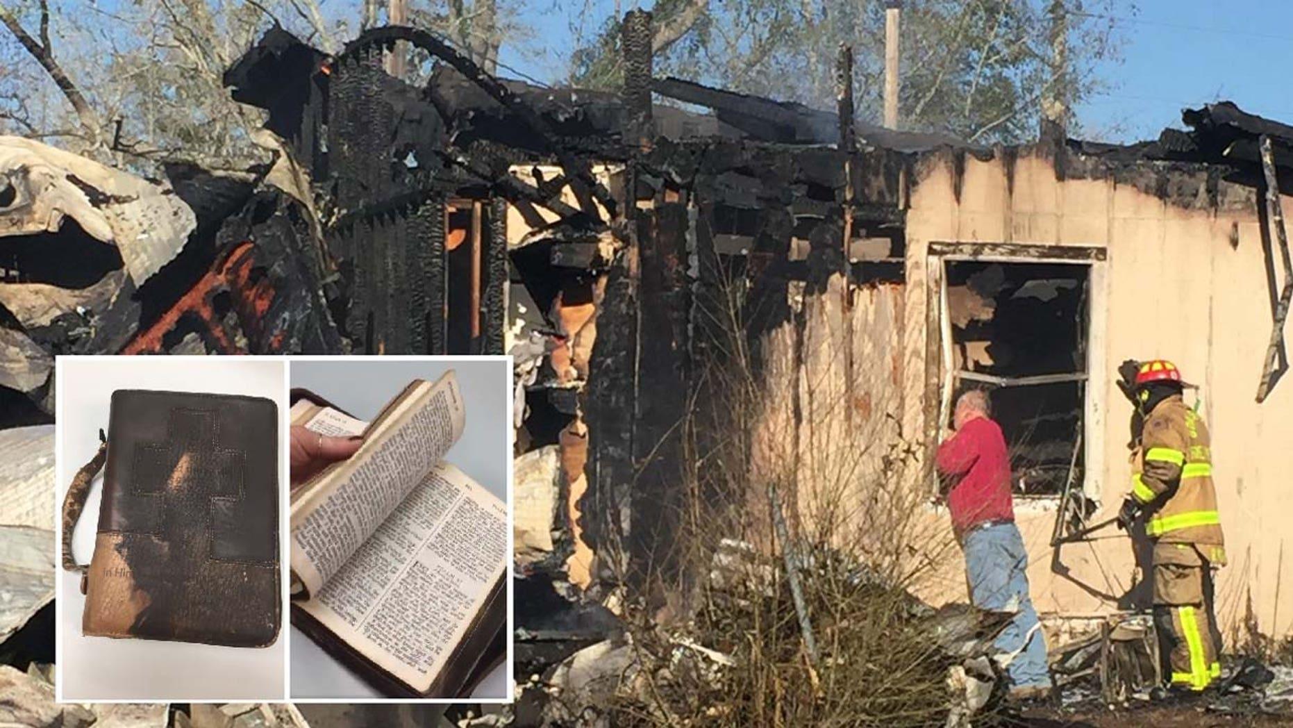 Alabama man's Bible survives devastating home fire ...