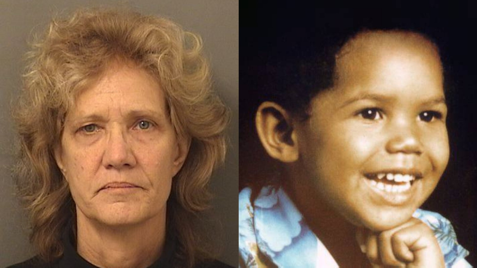 Amy Elizabeth Fleming, 60, was arrested in the 1986 murder of her son, Francillon Pierre.