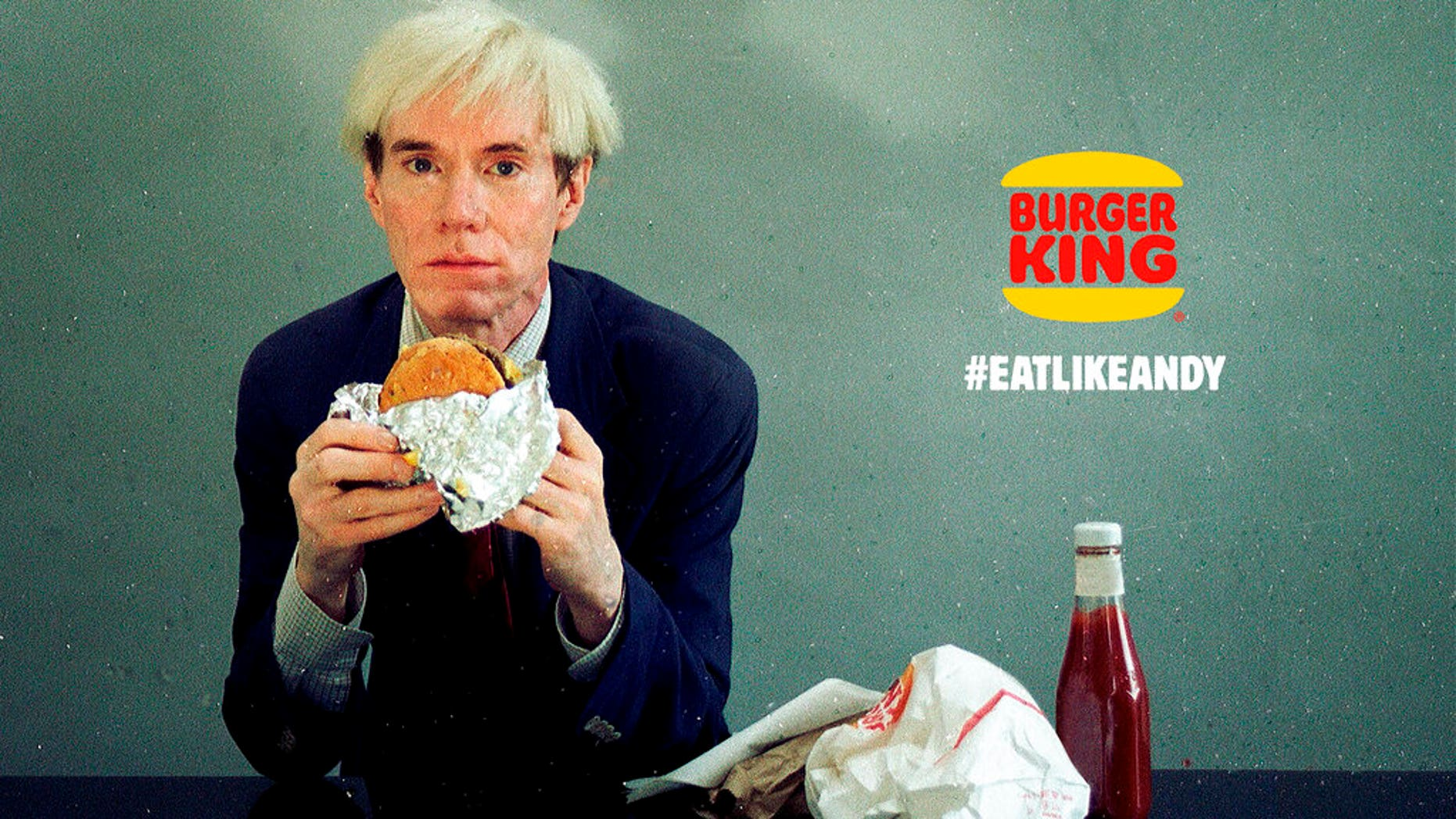 Andy Warhol eats a Whopper in Burger King Super Bowl ad