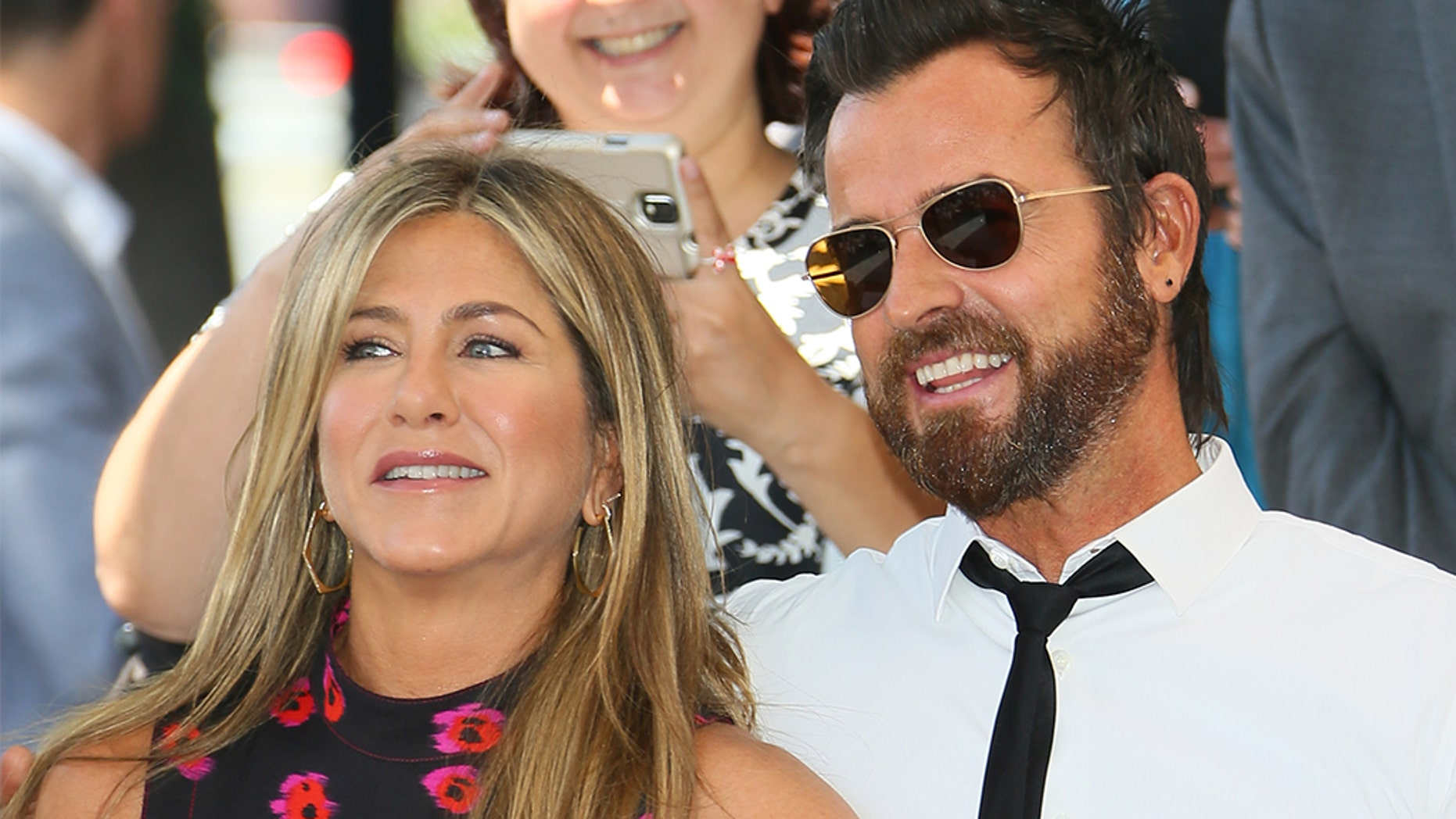 Justin Theroux wished his ex Jennifer Aniston a happy birthday on social media Monday. The two announced their separation a year ago.