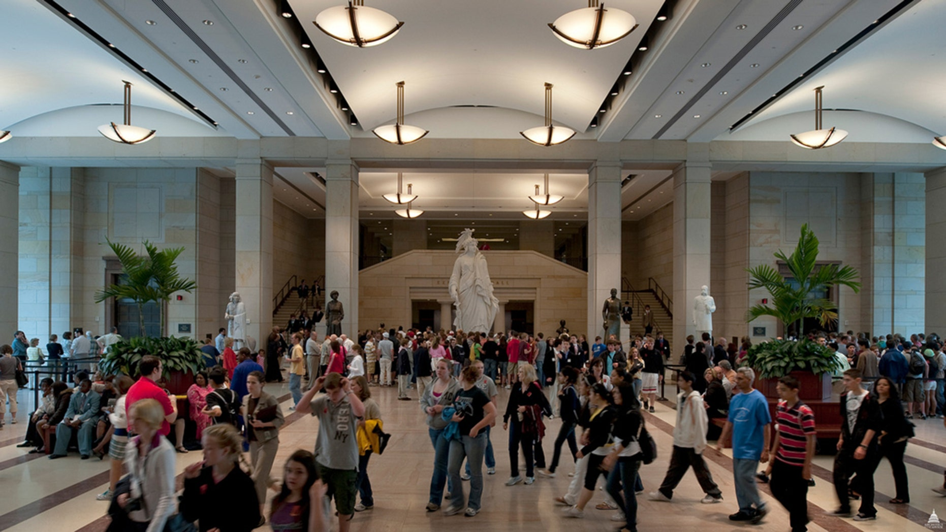 A U.S. Capitol police officer reportedly left his pistol inside a bathroom at its Visitor Center earlier this week. (Architect of the Capitol)