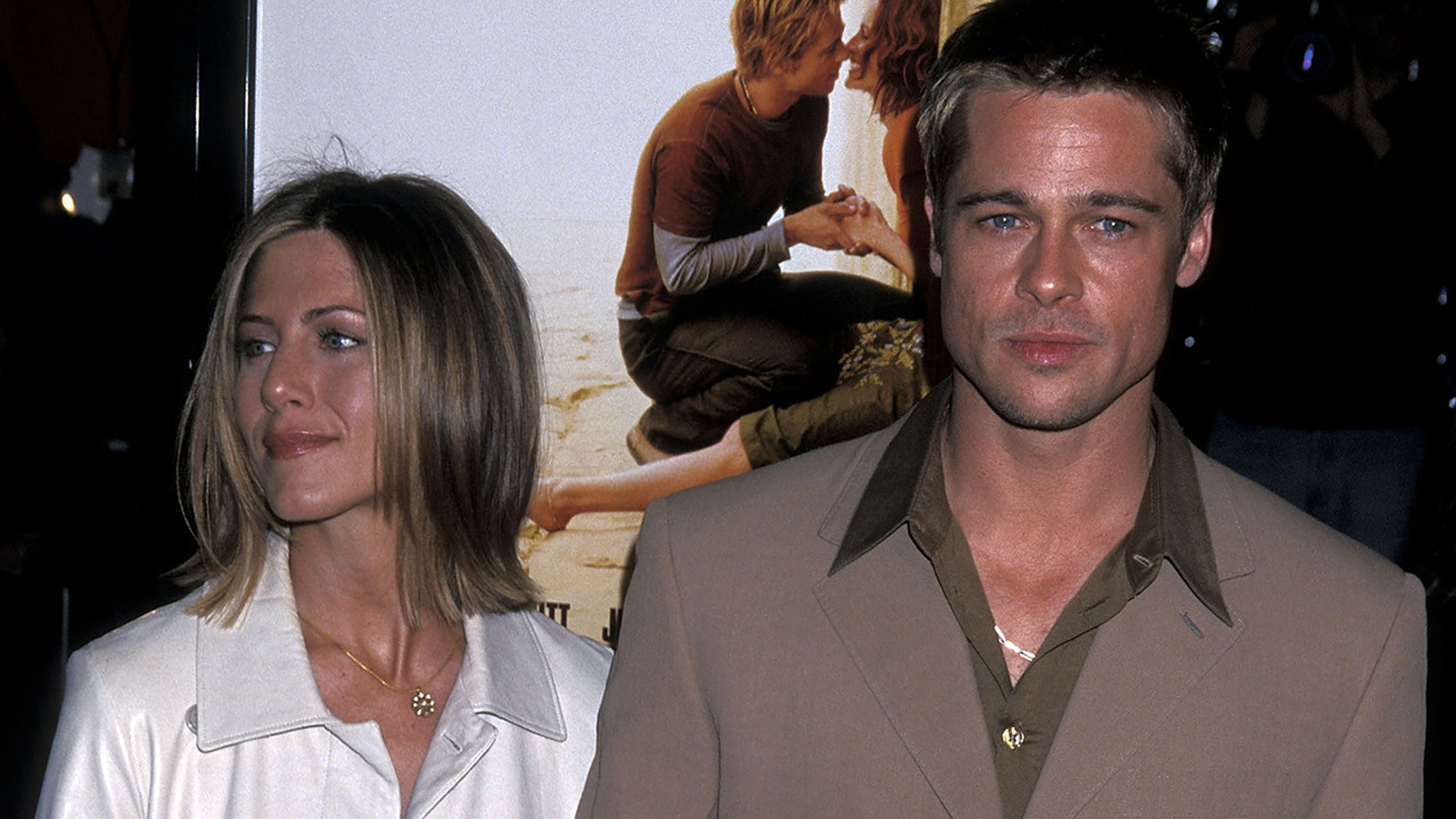 Brad Pitt made an appearance at ex-wife Jennifer Aniston's 50th birthday party.