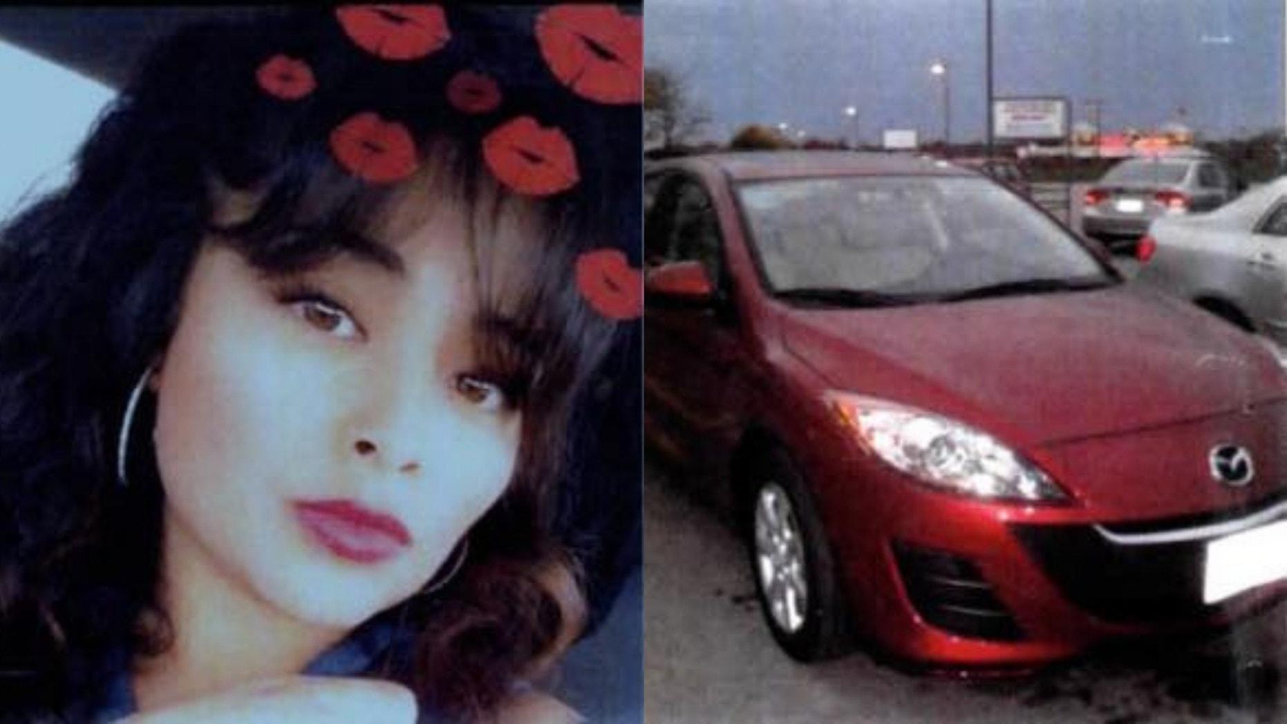 Brenda Lizbeth Montanez was last seen driving in her maroon 2011 Mazda on Jan. 27.