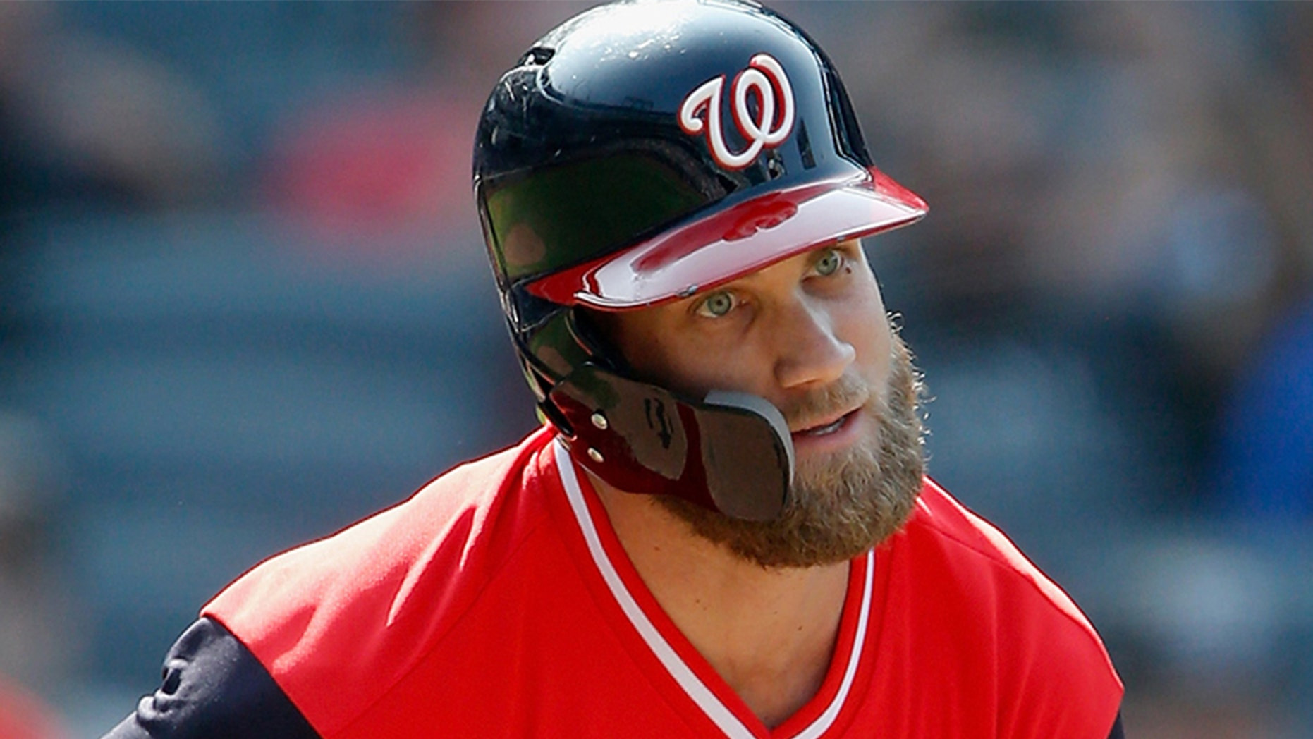 Bryce Harper has played all seven years of his career with the Washington Nationals. (Photo by Jim McIsaac/Getty Images)
