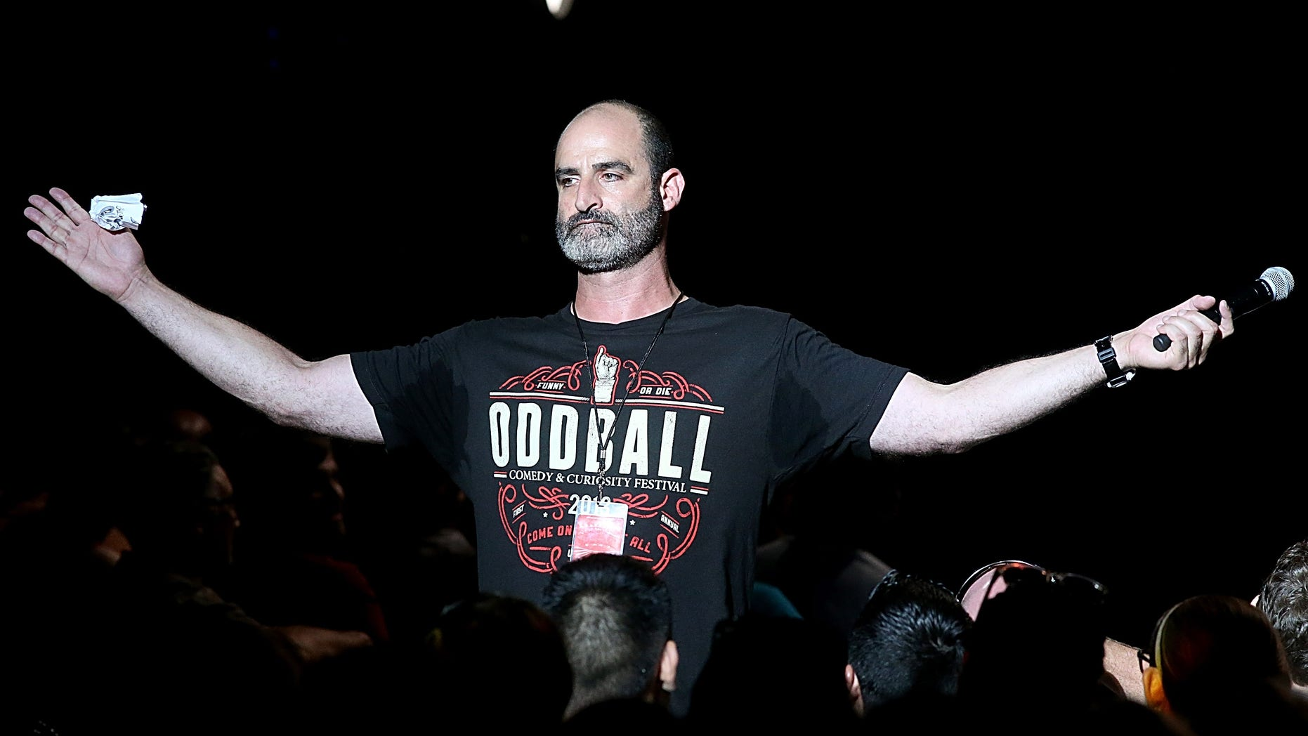 Brody Stevens performs during the Funny Or Die Oddball Comedy Festival at the Austin360 Amphitheater on Sept. 21, 2014 in Austin, Texas.