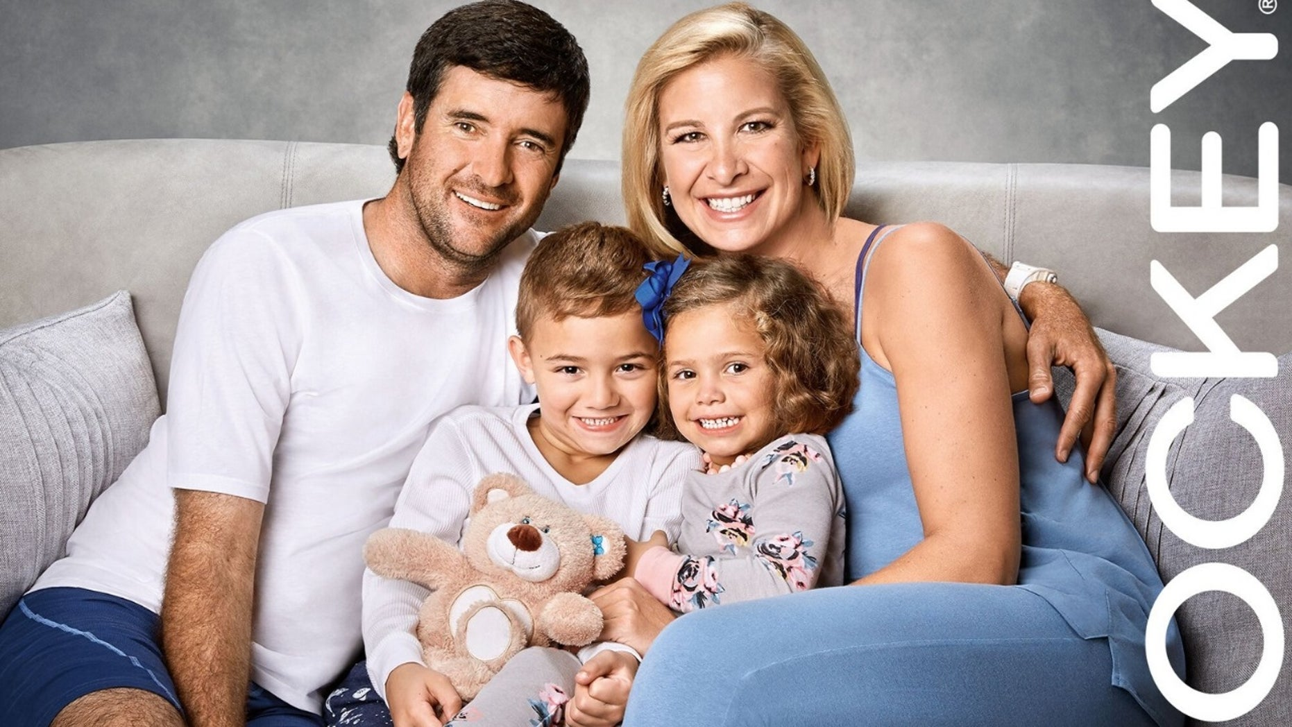 Two-time Masters Tournament champion Bubba Watson, his mother Angie and their dual adopted children, Caleb and Dakota.