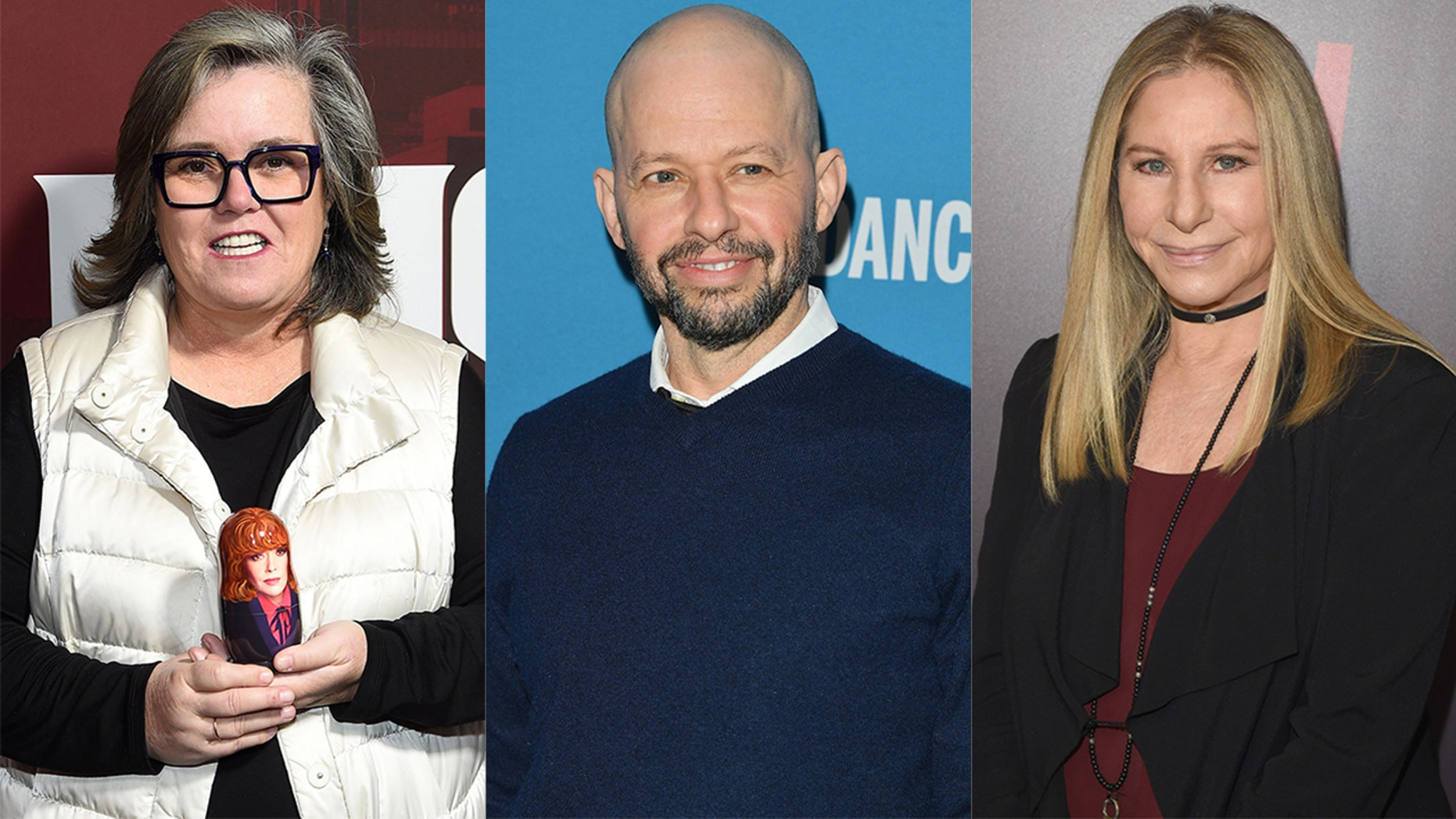 Celebrities like Rosie O'Donnell, Jon Cryer and Barbra Streisand were among the celebrities commenting on Donald Trump's national emergency declaration.