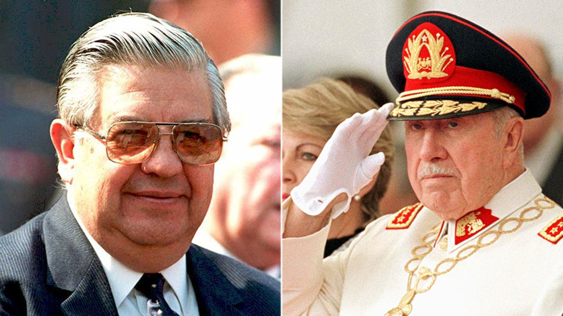 Adriana Rivas, 66, worked as a close aide between 1973 and 1976 to Manuel Contreras (left), who ran the National Intelligence Directorate under the Pinochet regime. The secret police run by Contreras was the main agency Pinochet (right) used to suppress his political opponents following his usurpation of power.