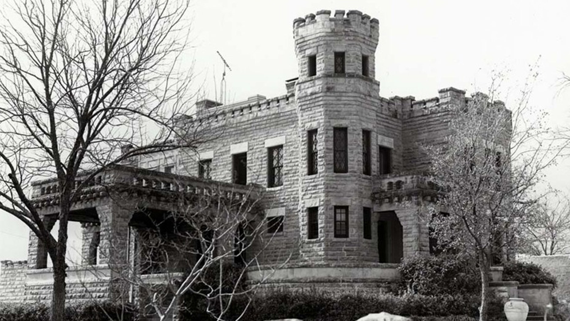 Construction on the 6,700-square-foot stone castle began in 1890 and was completed in 1913.