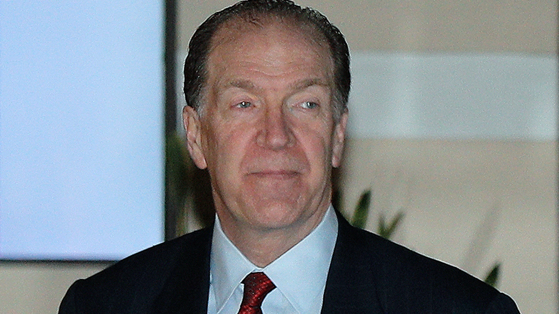 Department of the Treasury Under Secretary for International Affairs David Malpass leaves a hotel in Beijing, Wednesday, Feb. 13, 2019. President Trump has nominated Malpass to head the World Bank. (AP Photo/Andy Wong)