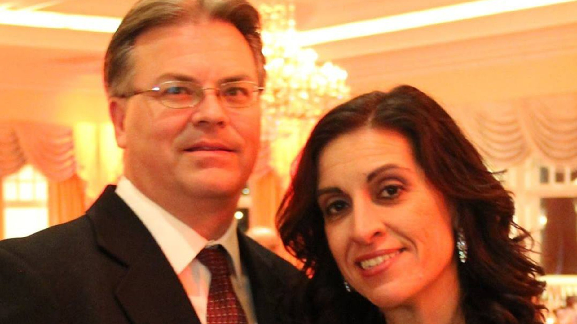 Denise Bartone, right, was found slain in her New Jersey home on Monday and her husband's, Kenneth Bartone,left, body was later found in a river after an apparent suicide.