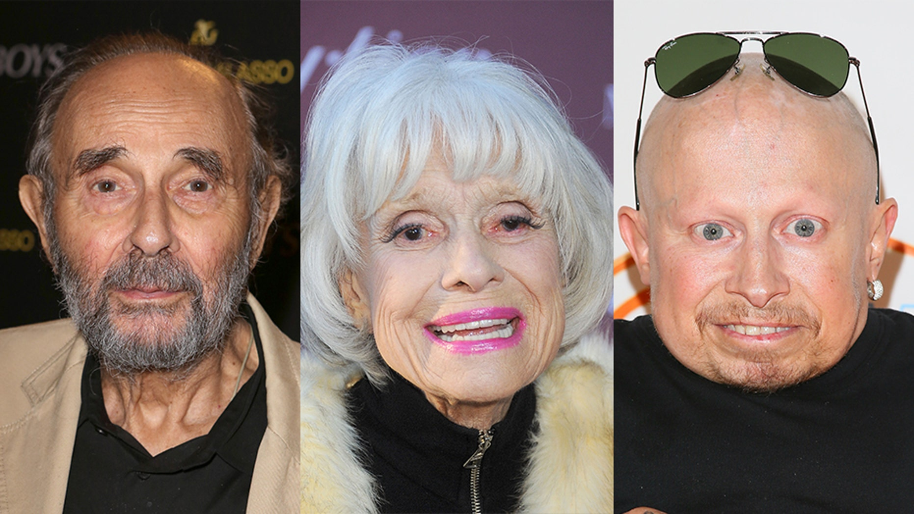 """Left to right: Stanley Donen, Carol Channing and Verne Troyer were noticeably absent from the """"In Memoriam"""" segment of the Oscars. — Getty"""