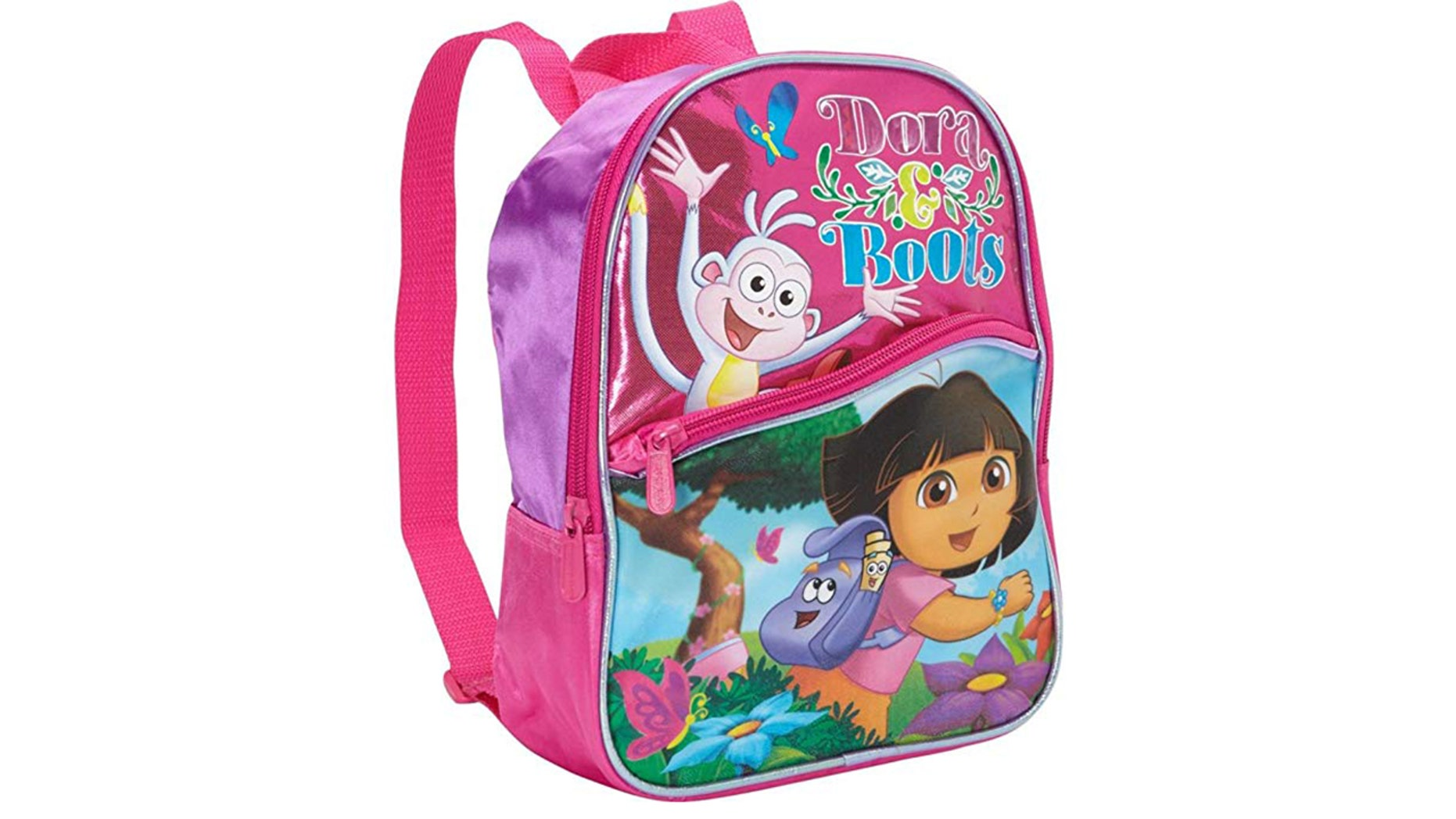 Pledges were forced to wear 'Dora the Explorer' backpacks.