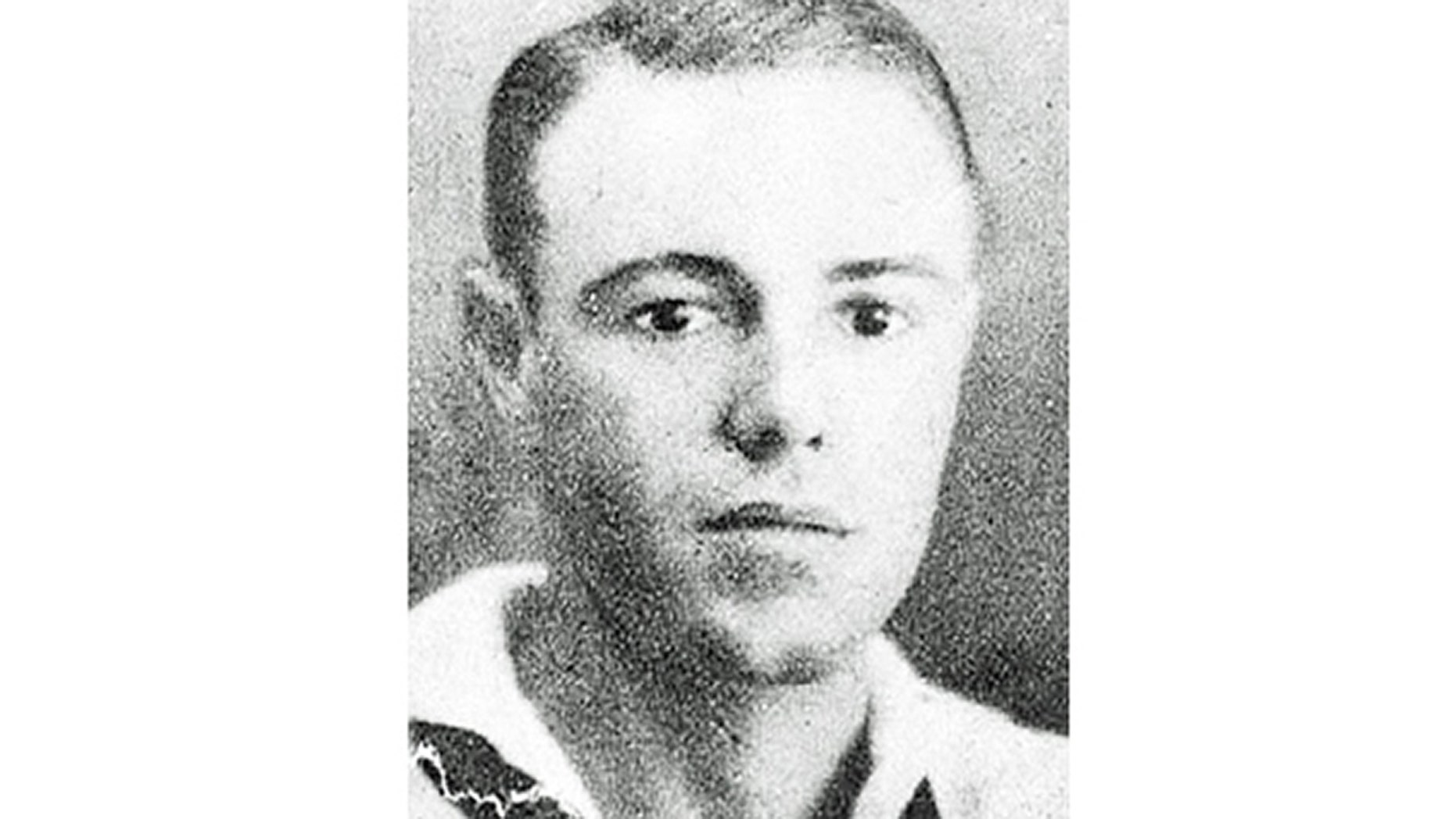Navy Fire Controlman 1st Class Edward J. Shelden, 29,of Indianapolis, was serving aboard the USS Oklahoma when it was struck by enemy fire multiple times on Dec. 7, 1941. (Defense POW/MIA Accounting Agency)