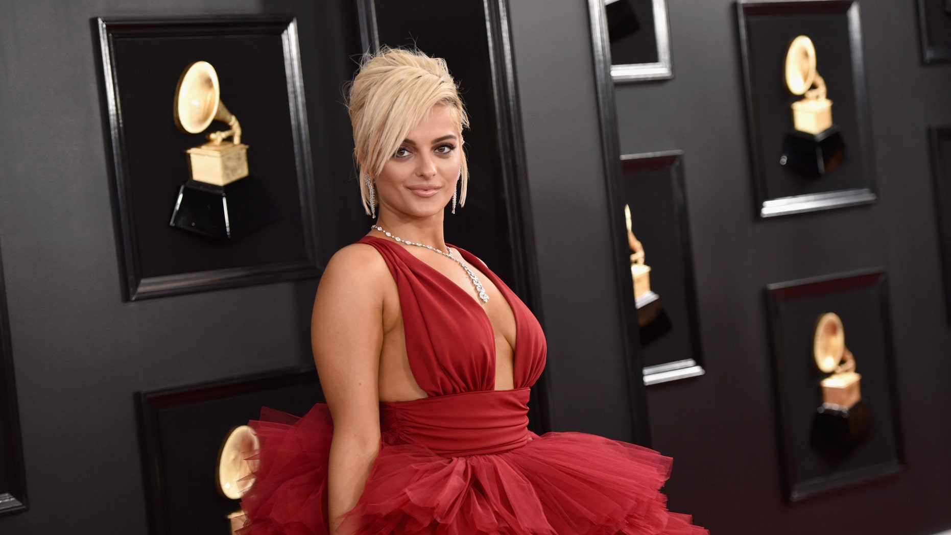 Bebe Rexha attends the 61st Annual GRAMMY Awards at Staples Center