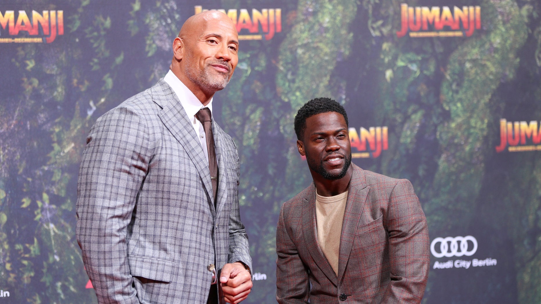 Dwayne 'The Rock' Johnson playfully poked fun at his 'Jumanji' co-star Kevin Hart over his Oscars hosting controversy.