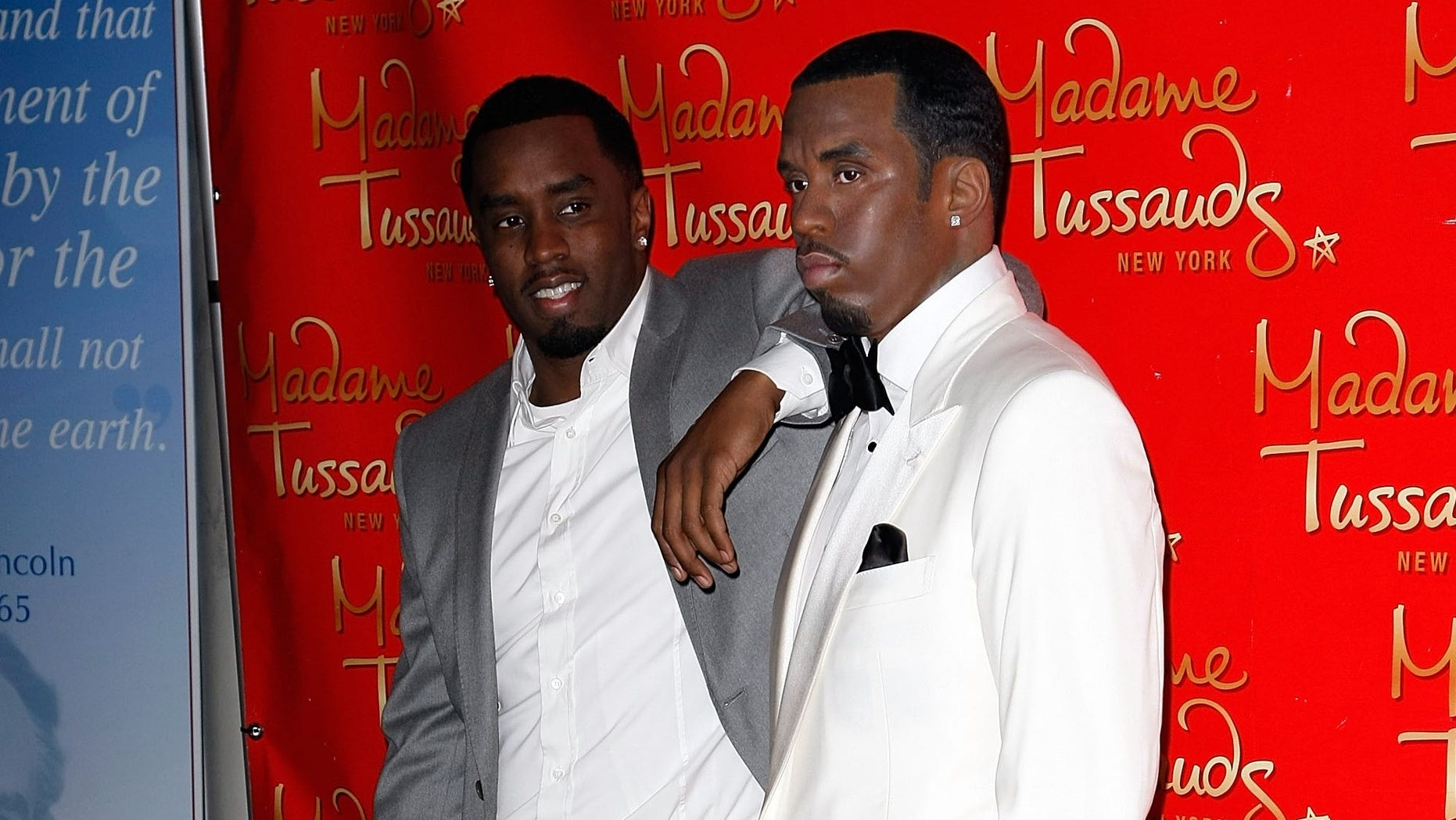 """Sean """"Diddy"""" Combs' wax figure was damaged on Saturday, police said."""