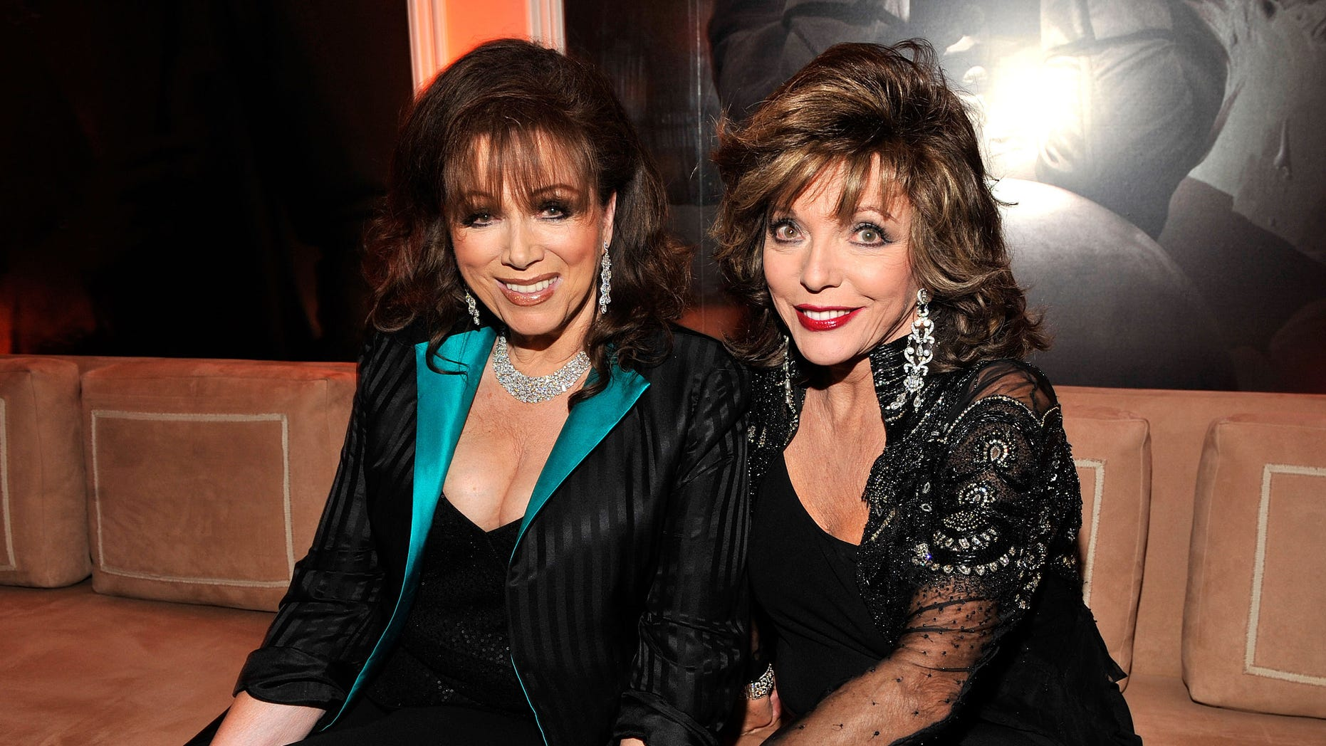 Author Jackie Collins and actress Joan Collins will be the subject of a new dramatized series about their lives.