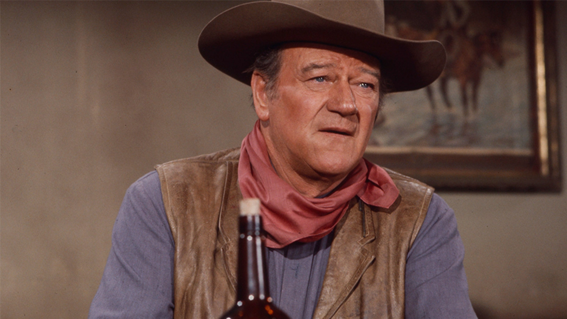 John Wayne, a movie legend who died nearly 40 years ago, has an airport named after him in Southern California. But some say the star, shown in 1970, doesn't deserve the tribute because of some past comments. (Getty Images)