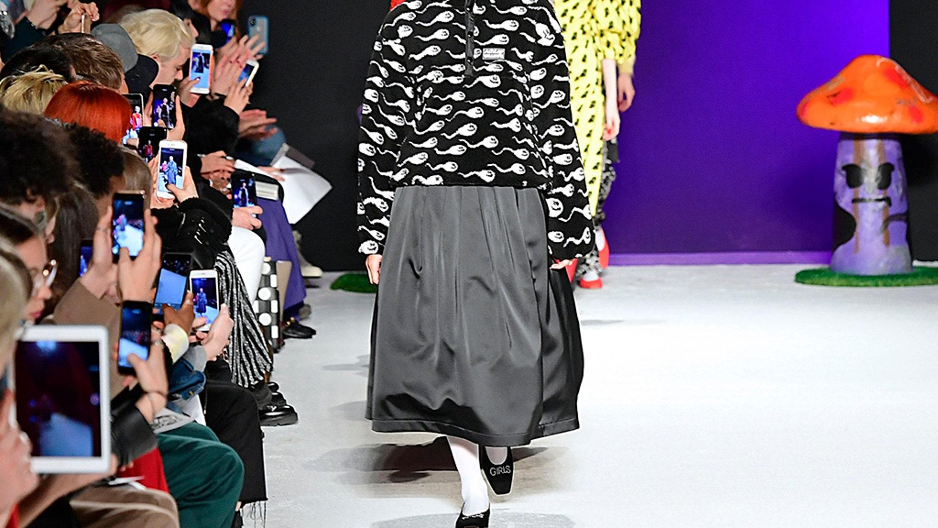 Adwoa Aboah walks the runway at the Ashley Williams Ready to Wear Fall/Winter 2019-2020 fashion show.
