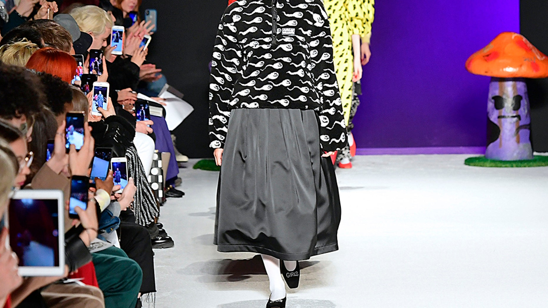 Adwoa Aboah walks the runway at the Ashley Williams Ready to Wear Fall/Winter 2019-2020 fashion show.