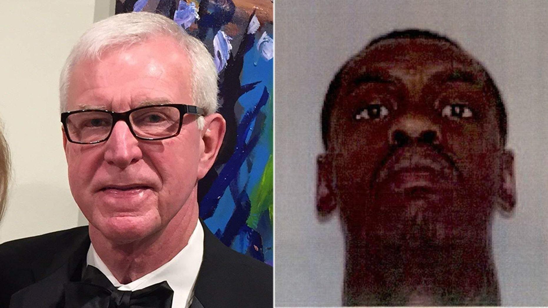 Philanthropist and businessman Jack Hough, 73, (left), was shot dead on Thursday in Gainesville, Georgia. The police detained DeMarvin Bennett, 24, on Thursday for murder.