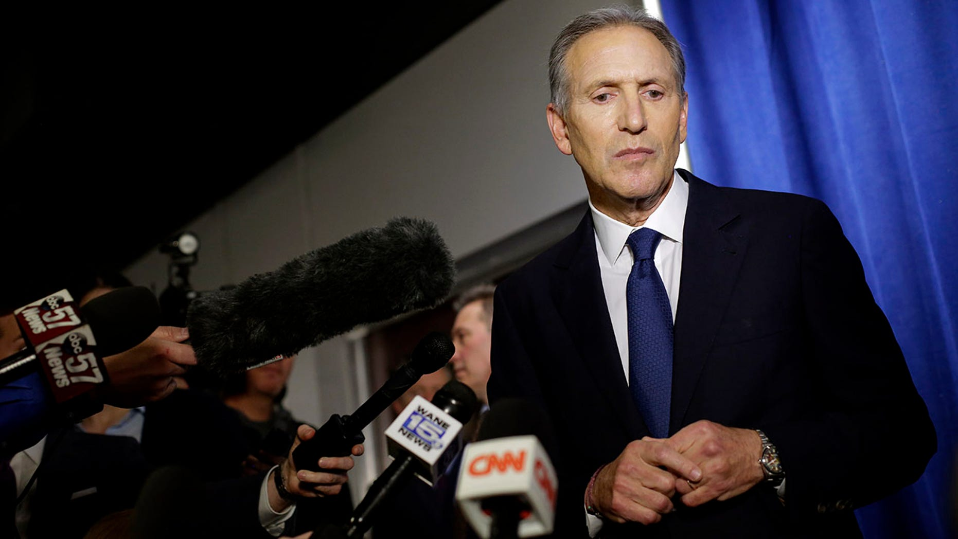 CNN's town hall event with Howard Schultz finished behind Fox News and MSNBC on Tuesday.