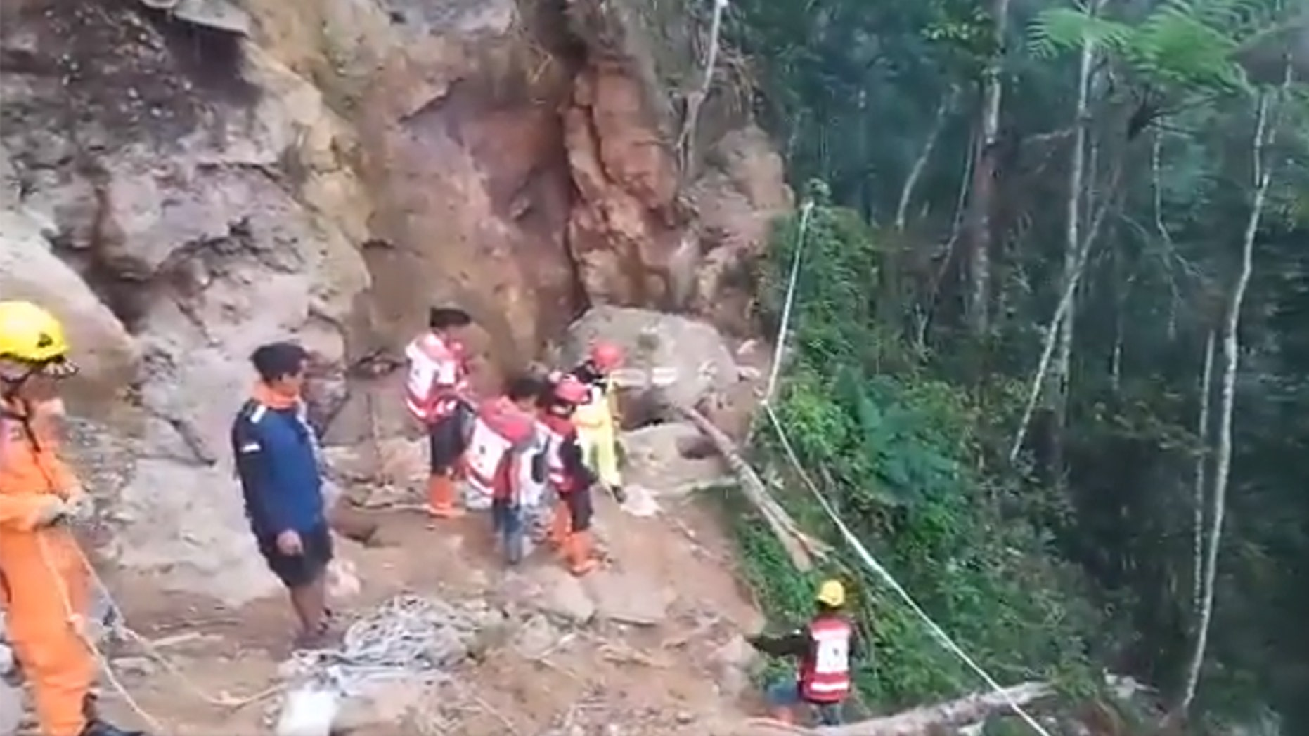 Landslide buries dozens at illegal Indonesian gold mine