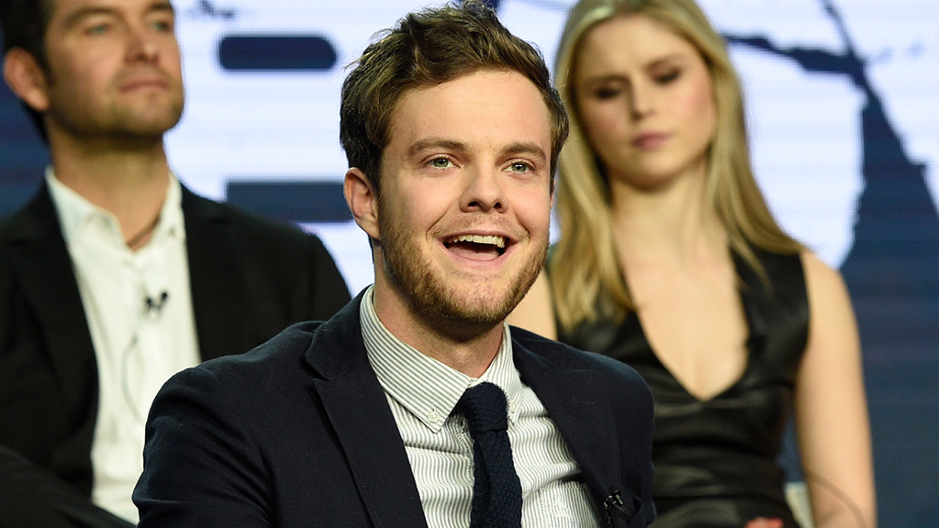"Jack Quaid spoke about growing up with his famous parents, Dennis Quaid and Meg Ryan, during the Amazon Prime Video ""The Boys"" panel at the Winter Television Critics Association Press Tour on Wednesday, Feb. 13, 2019, in Pasadena, Calif."