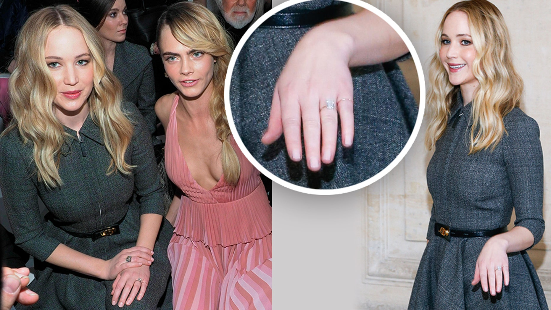 Jennifer Lawrence shows off sizable engagement ring at ...