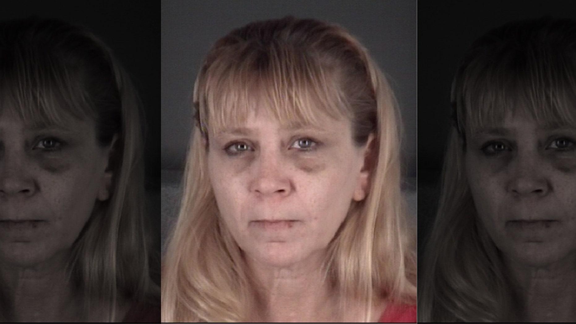 Jennifer Brassard, 48, was arrested after sheallegedly threw a frozen pork chop at her boyfriend during an argument.