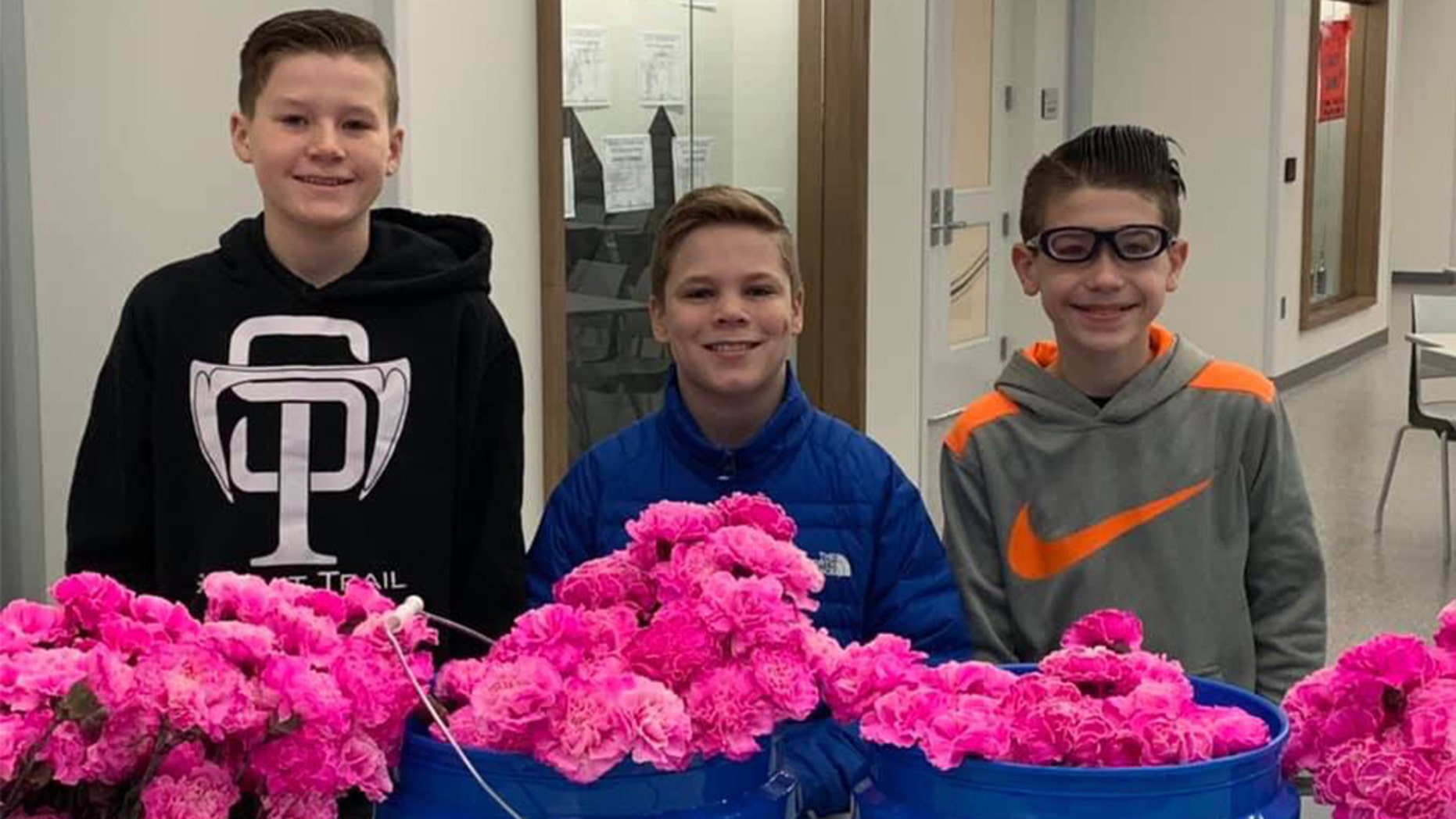 A group of young boys in Kansas reportedly had a Valentine's Day surprise for eachfemale at their middle school on Thursday.