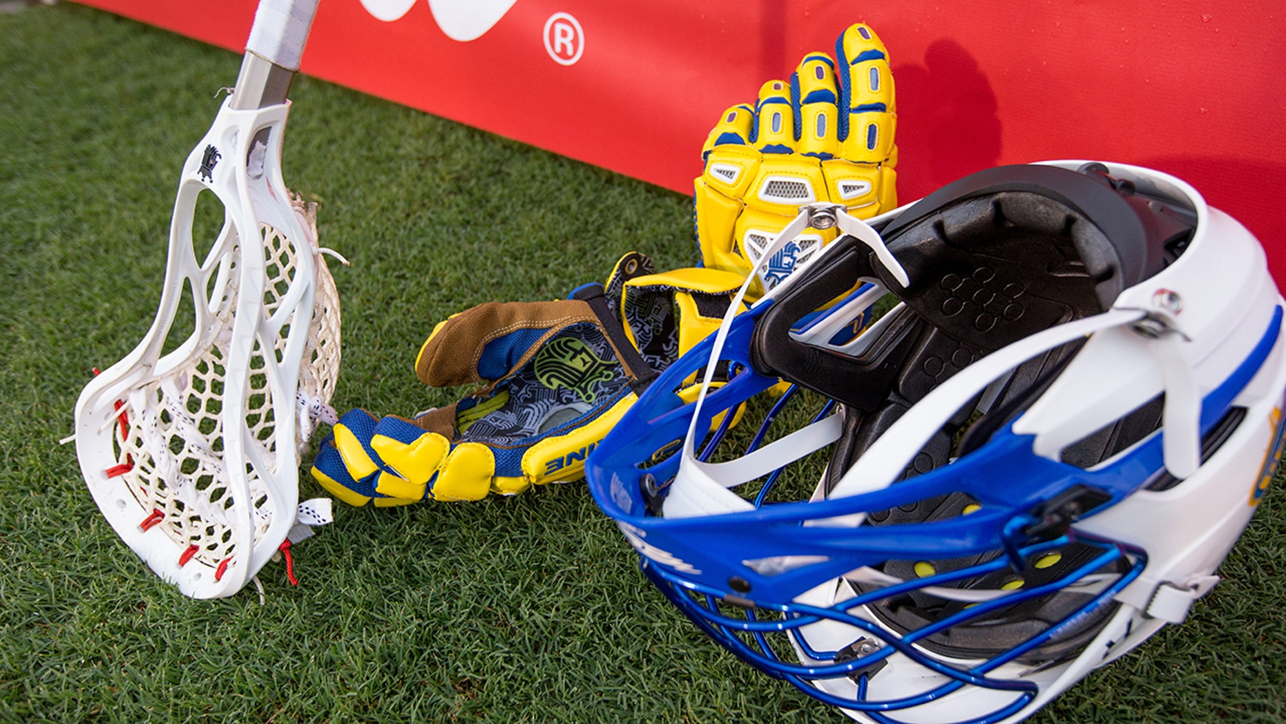 A standout college lacrosse actor is carrying difficulty anticipating a helmet that fits his head.