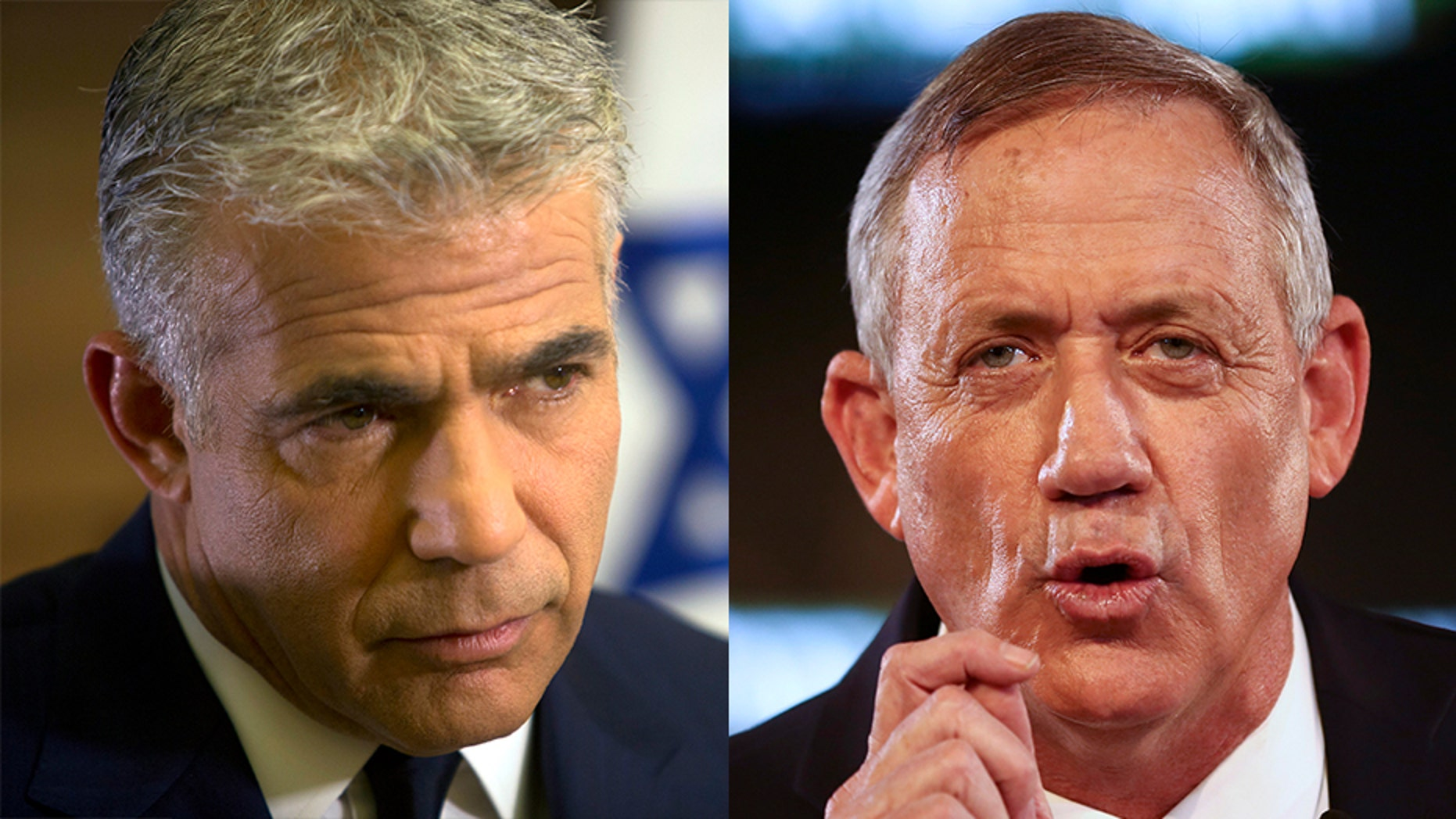 Television host turned politician Yair Lapid (left) and retired military chief Benny Gantz (right) have formed a joint party to run against Israel's Prime Minister Benjamin Netanyahu.