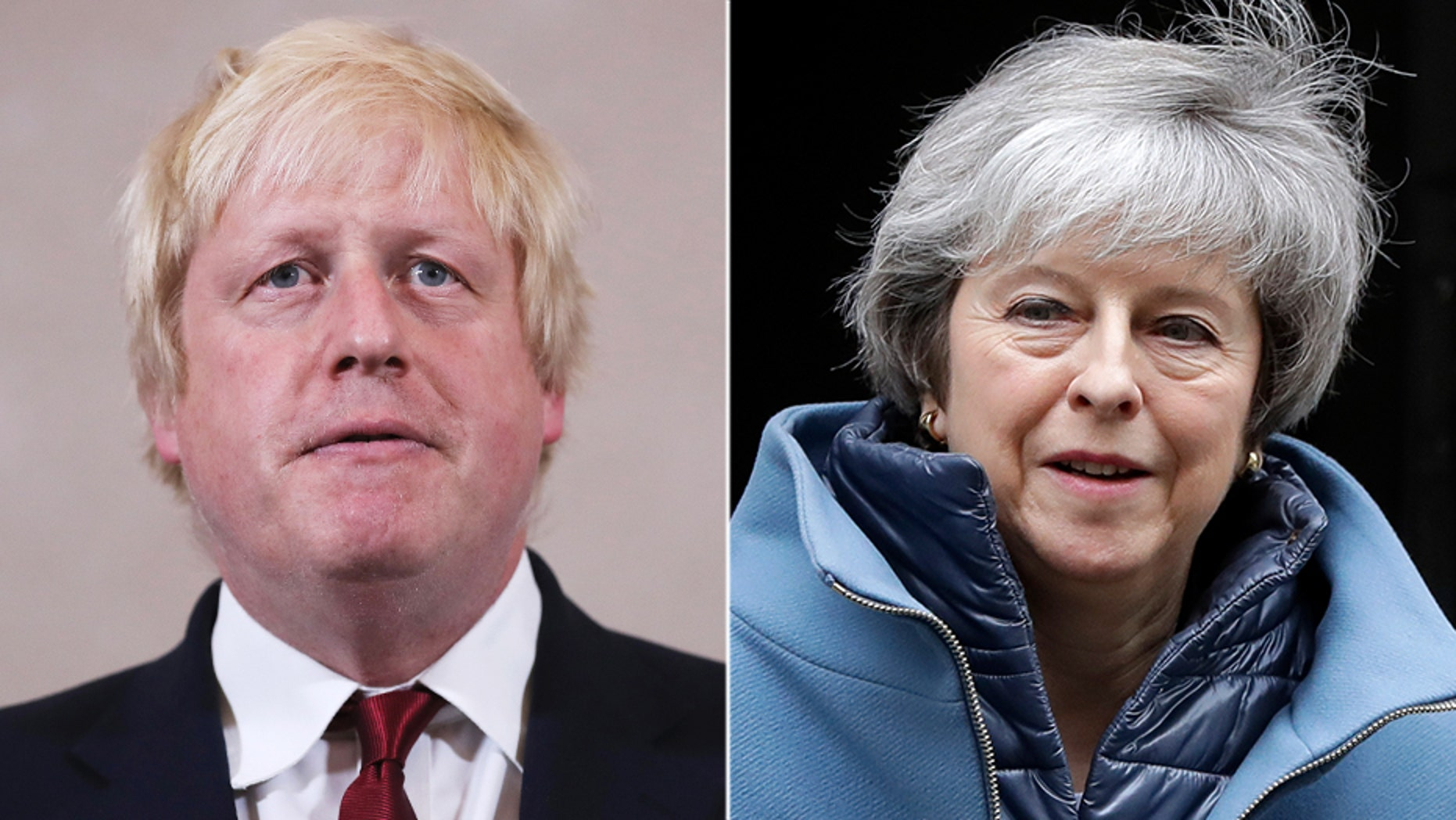 Theresa May (right) is preparing to resign as British Prime Minister as early as this summer, accordingto The Sun, in an attempt to make sure rival Boris Johnson (left) does not get the job