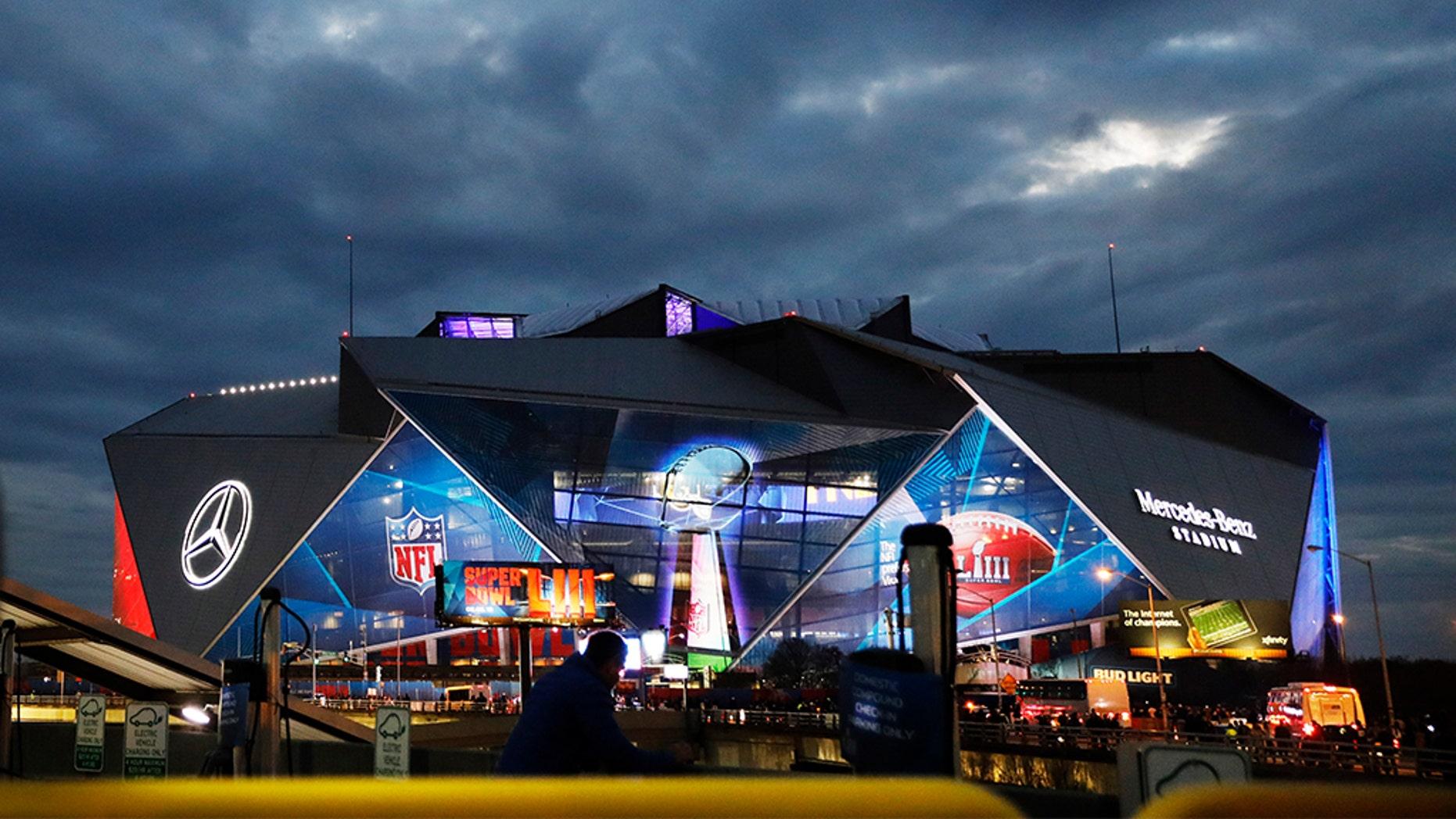 Mercedes-Benz Stadium, a day before this past Sunday's Super Bowl LIII. (AP Photo/David Goldman)