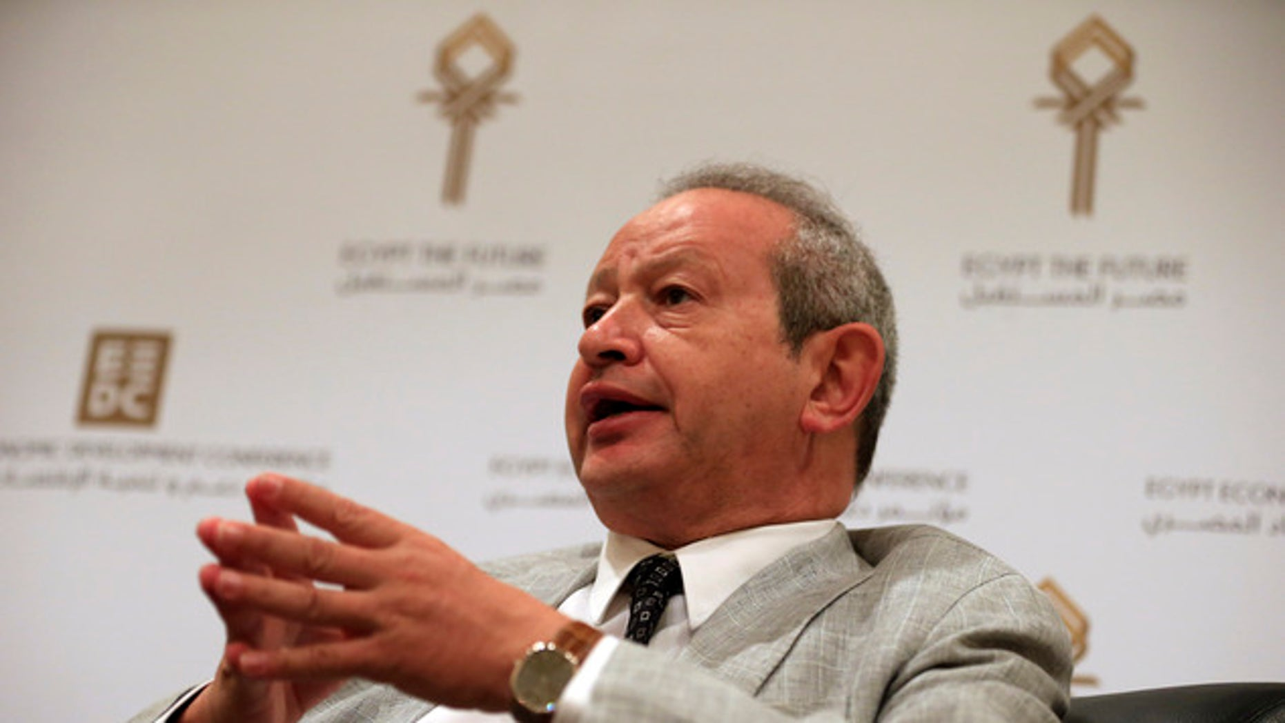 FILE: Egyptian billionaire businessman Naguib Sawiris.