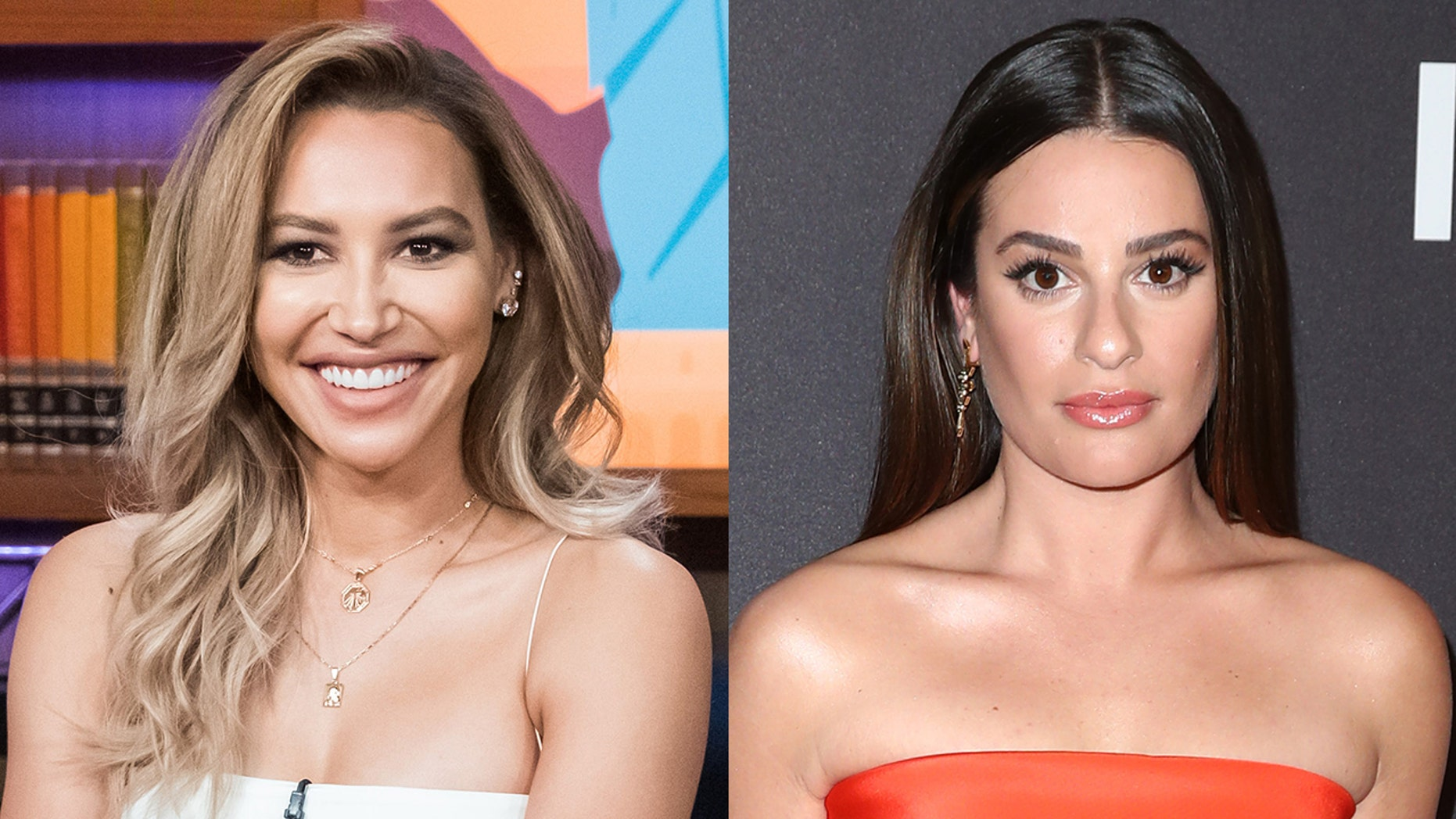 Naya Rivera denied there was any feud with her 'Glee' co-star Lea Michele.
