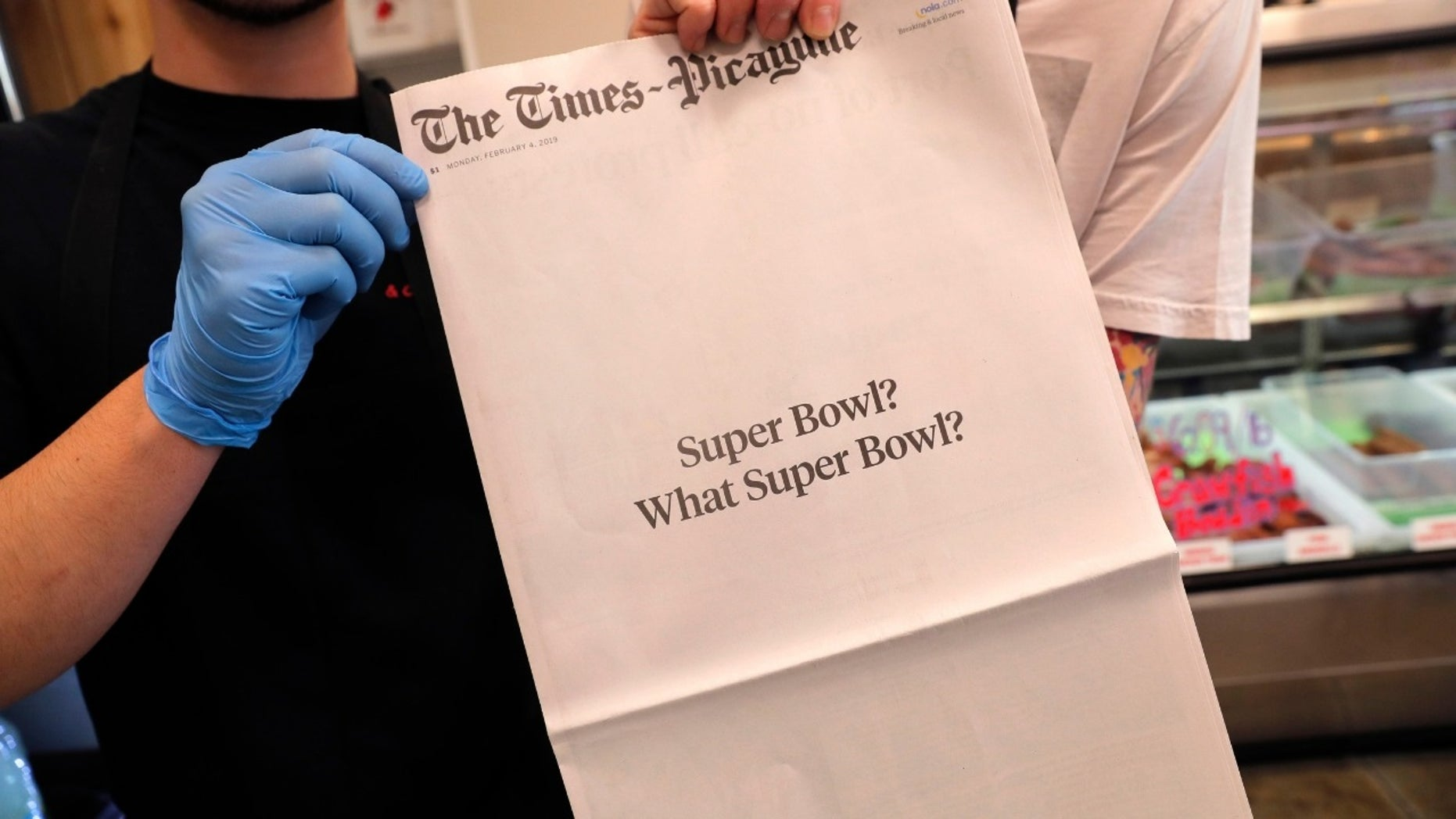 """The New Orleans Times-Picayune hilariously trolled the Super Bowl after Monday's front page stated, """"Super Bowl? What Super Bowl?"""""""
