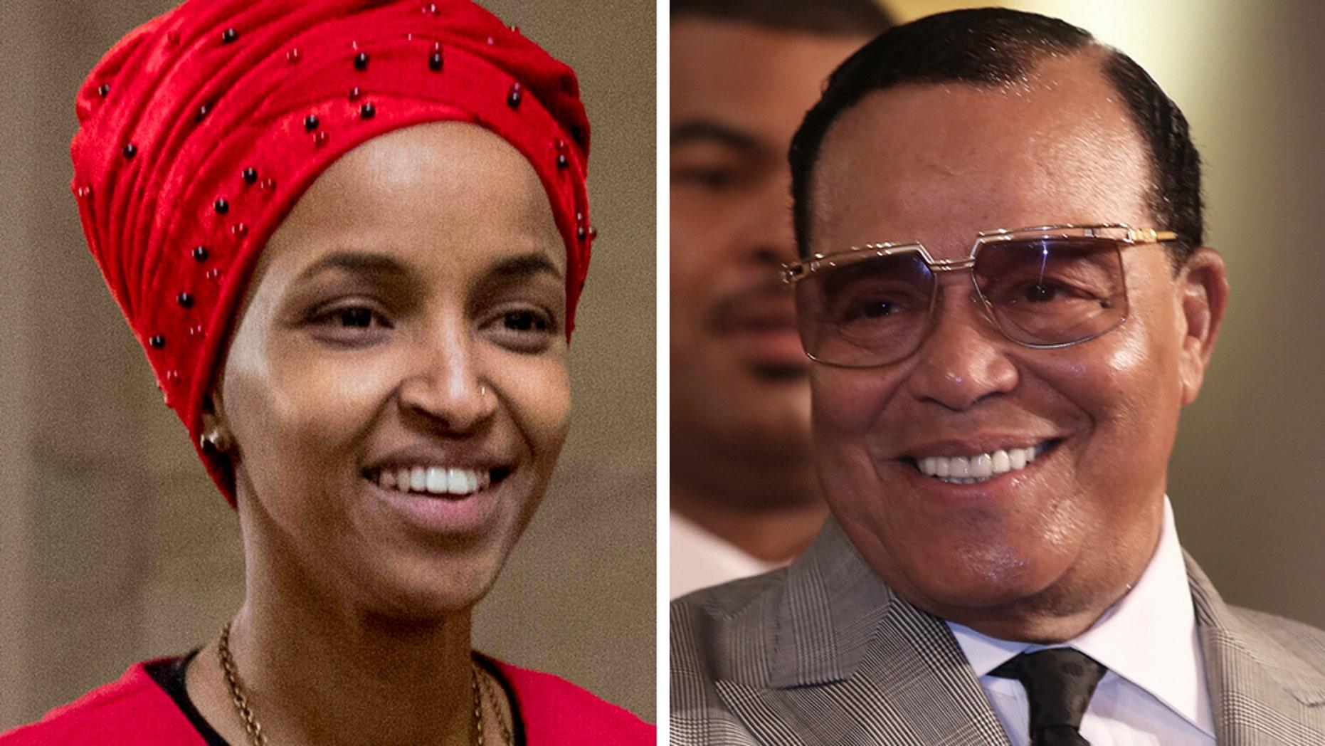 Rep. Ilhan Omar, D-Minn., and Nation of Islam leader Louis Farrakhan