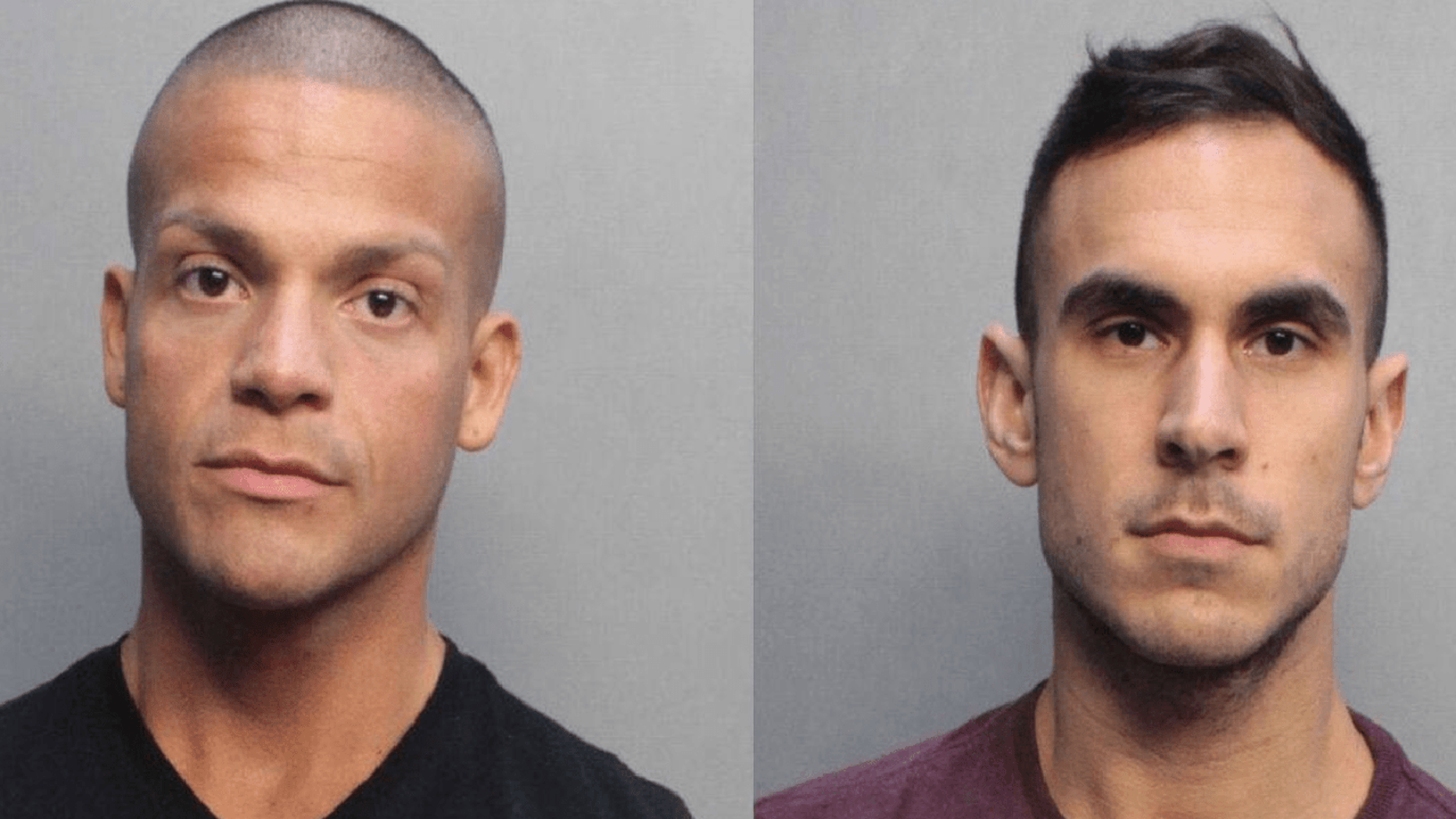 Peter Melendez, 35, (left) and Robert Koehler, 27, (right) were busted by federal agents after trying to smuggle an array of drugs on to a cruise ship.
