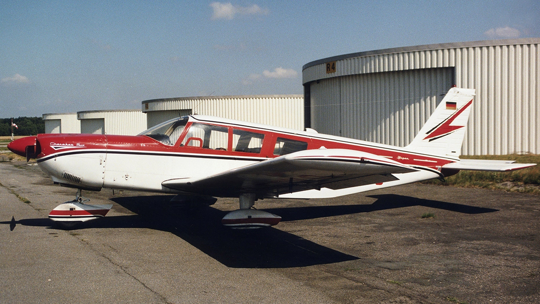 A Piper Cherokee Six plane similar to what was used during the chaotic Alaskan flight.