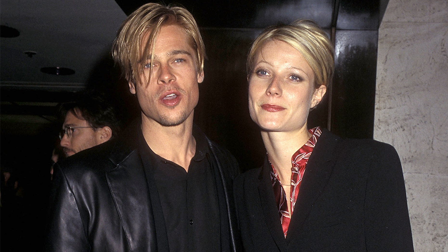 "Gwyneth Paltrow almost didn't star in the 1998 film ""Shakespeare in Love"" because of her breakup with then-boyfriend Brad Pitt. The former couple are pictured here in 1997."