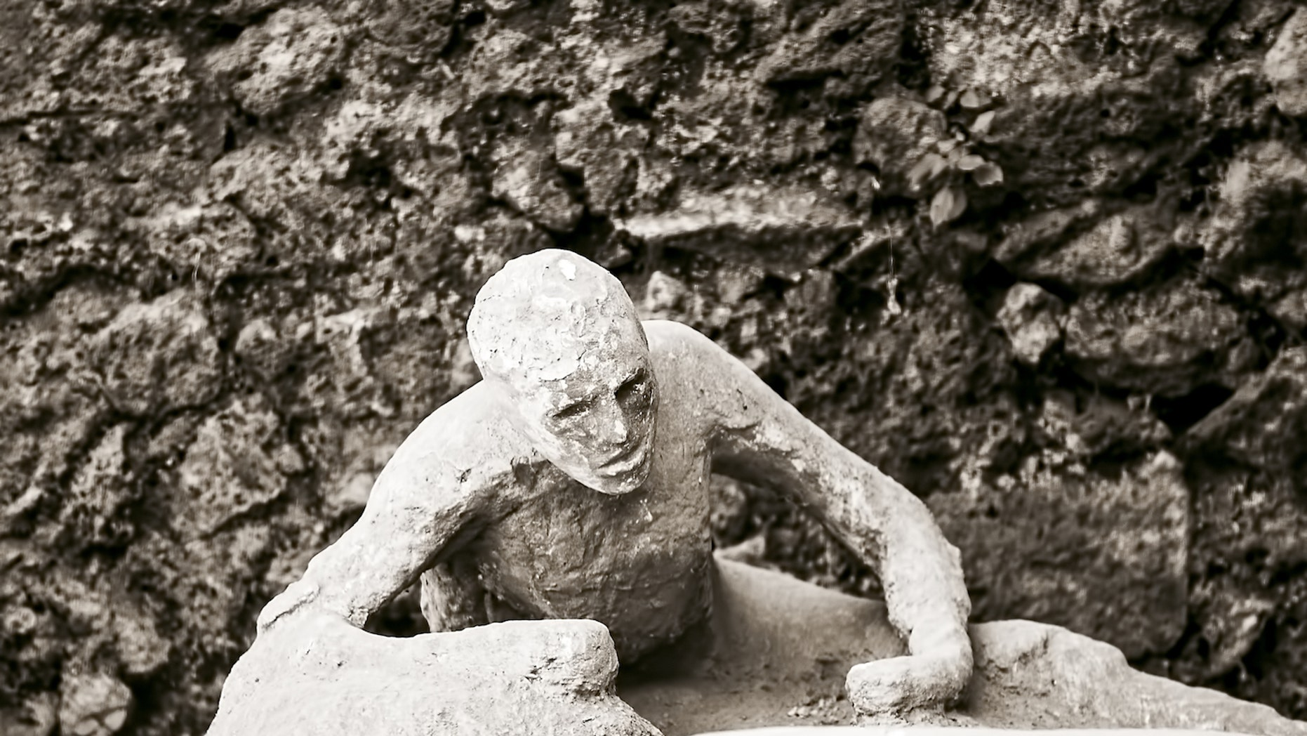 A victim who perished in Pompeii after Mount Vesuvius erupted in A.D. 79.